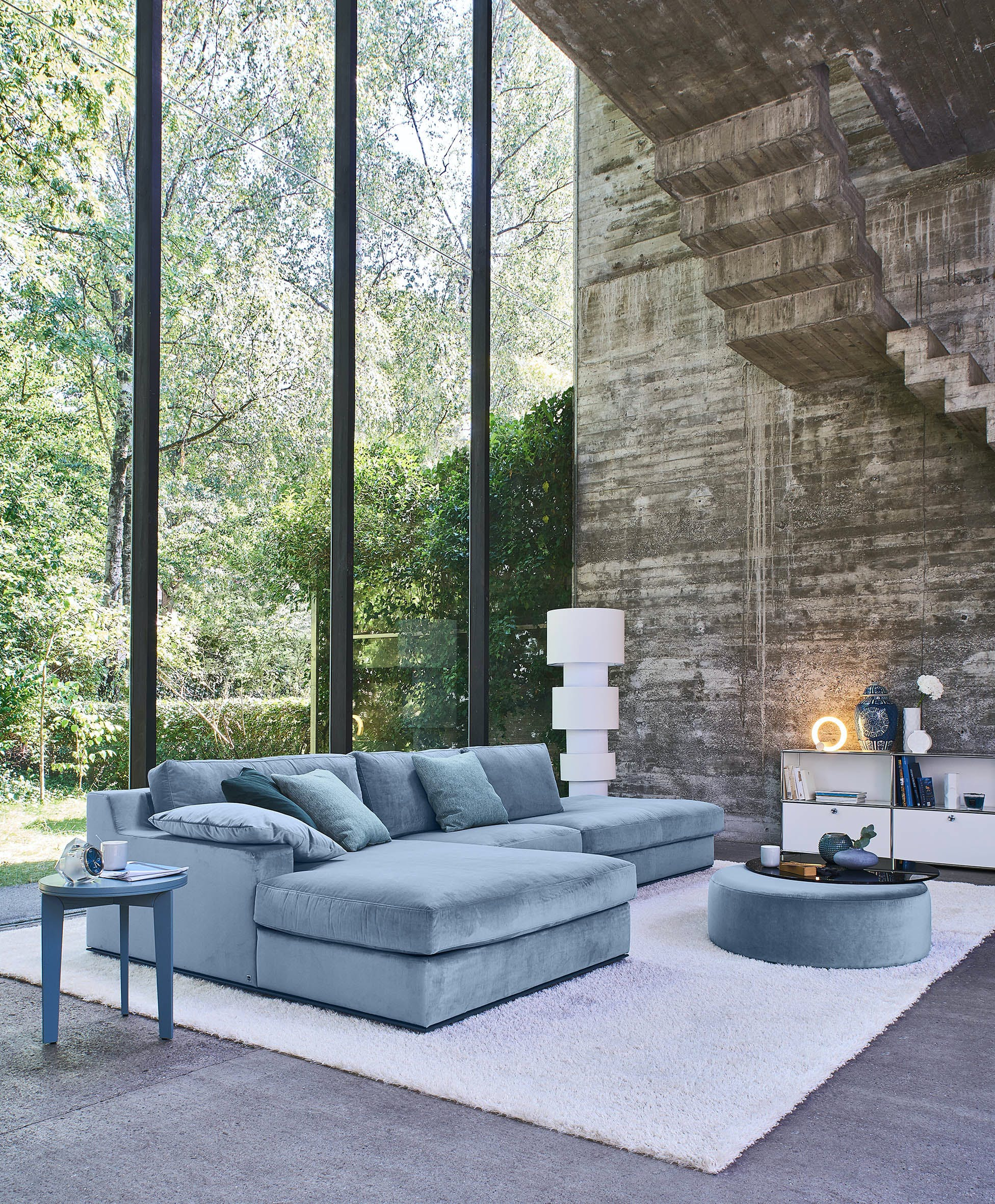 jab anstoetz sofa and chairs at haute living
