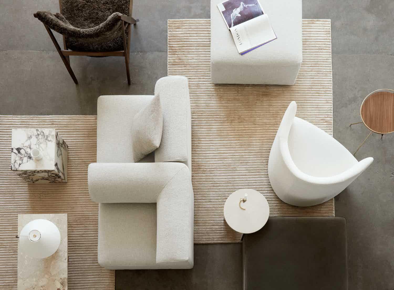 MENU Eave Houkime Rug Knitting Chair Plinth