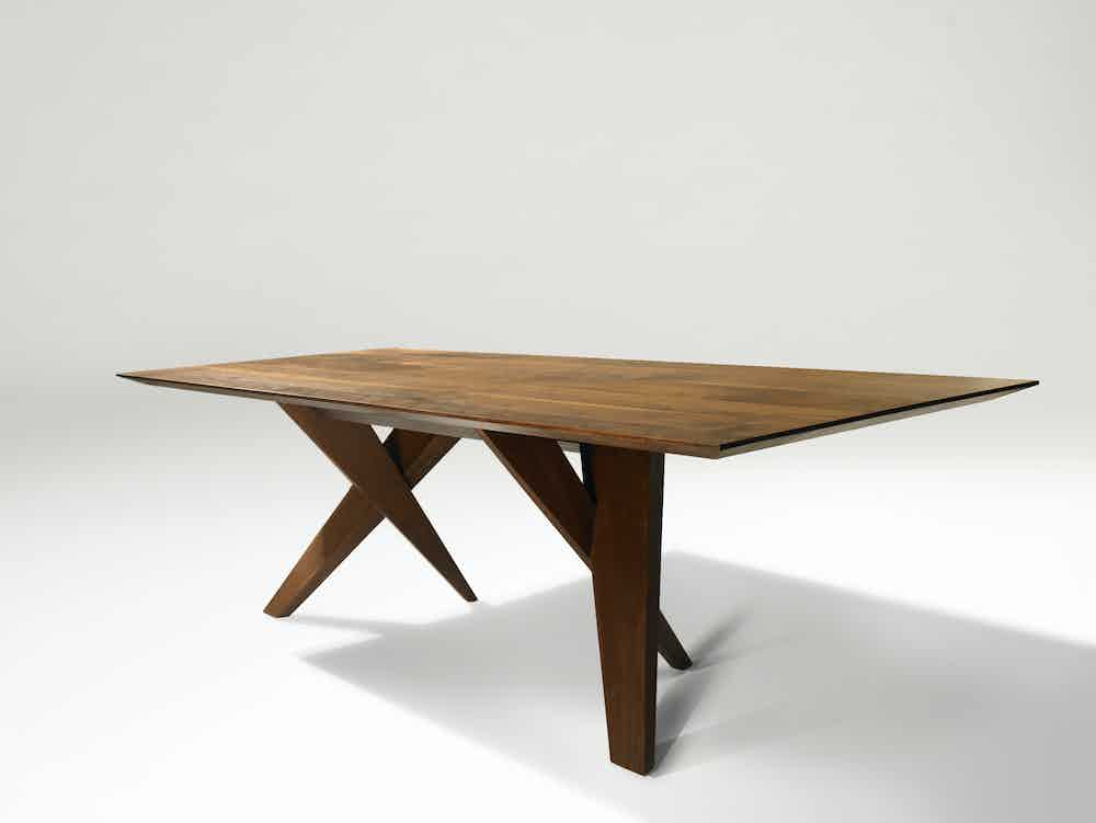 john ford wood table at haute living