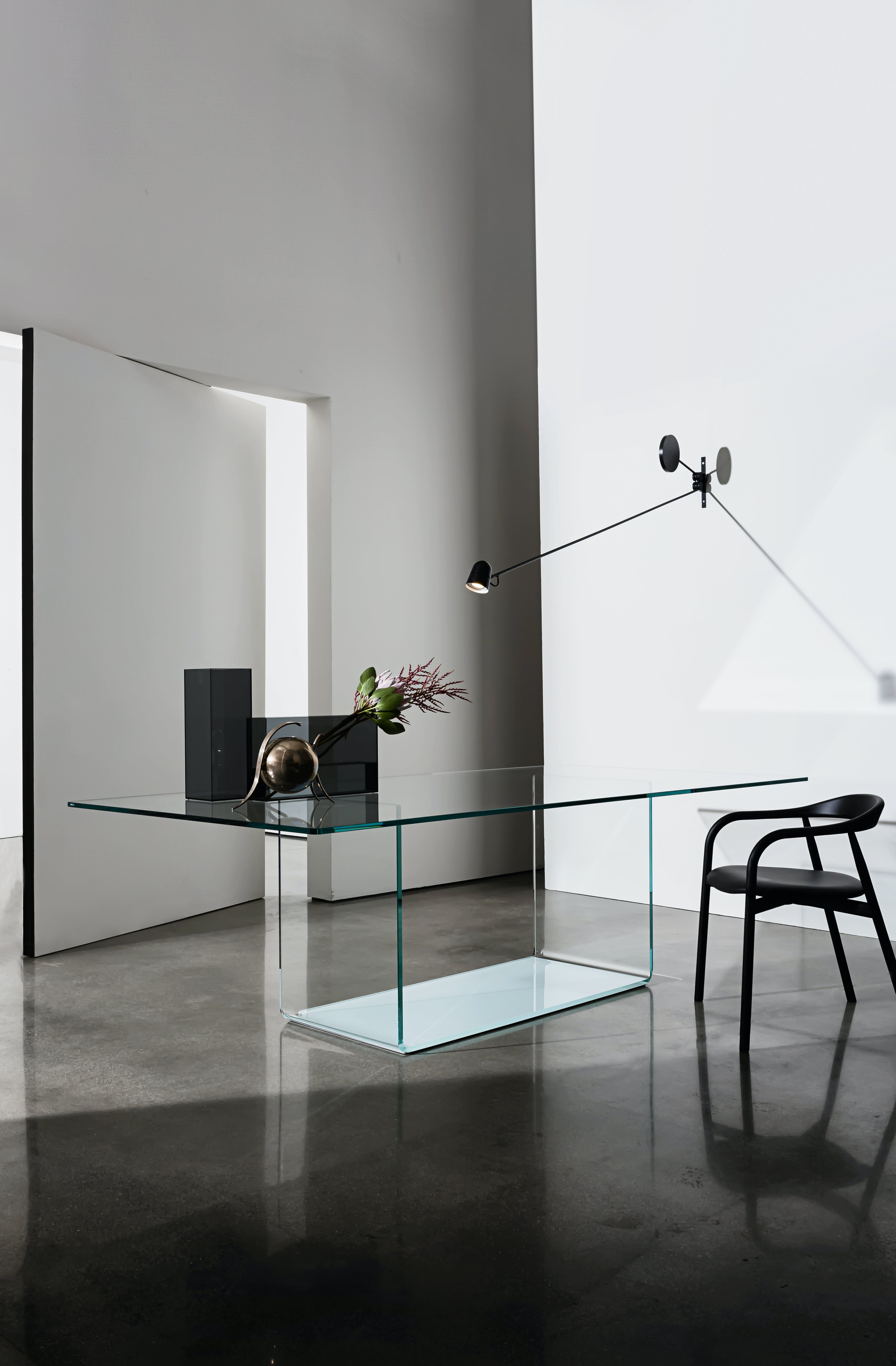 Sovet Velencia Glass Dining Table