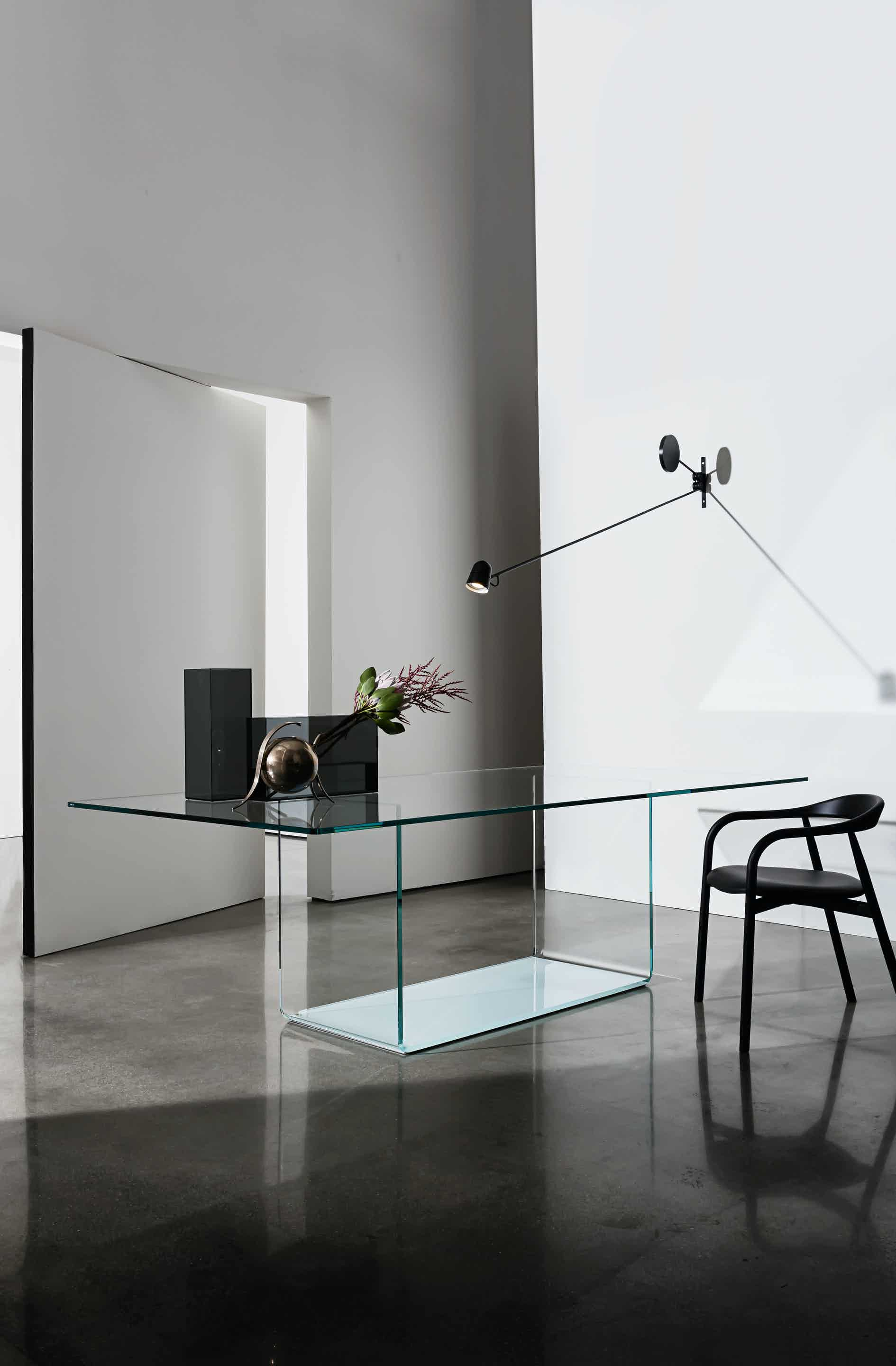 sovet contemporary glass dining table at haute living