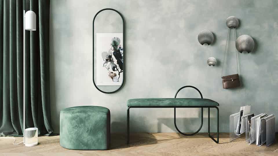 Aytm design angui bench green insitu haute living