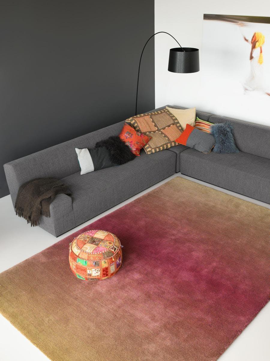 carpet sign cameleon rug at haute living chicago