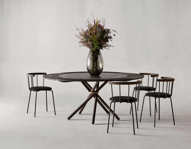 Eberhart furniture hector table black insitu haute living