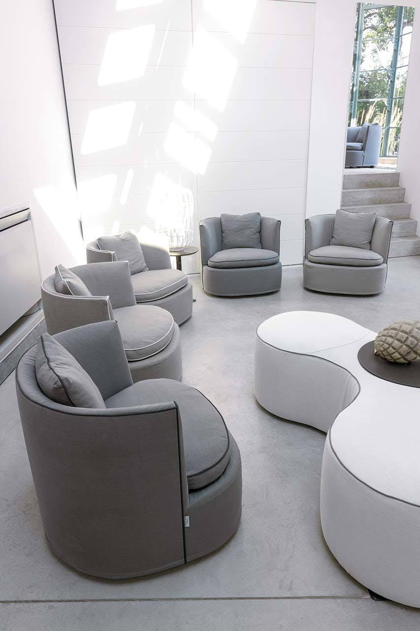 Frigerio Bessie Armchair Insitu Grey Haute Living
