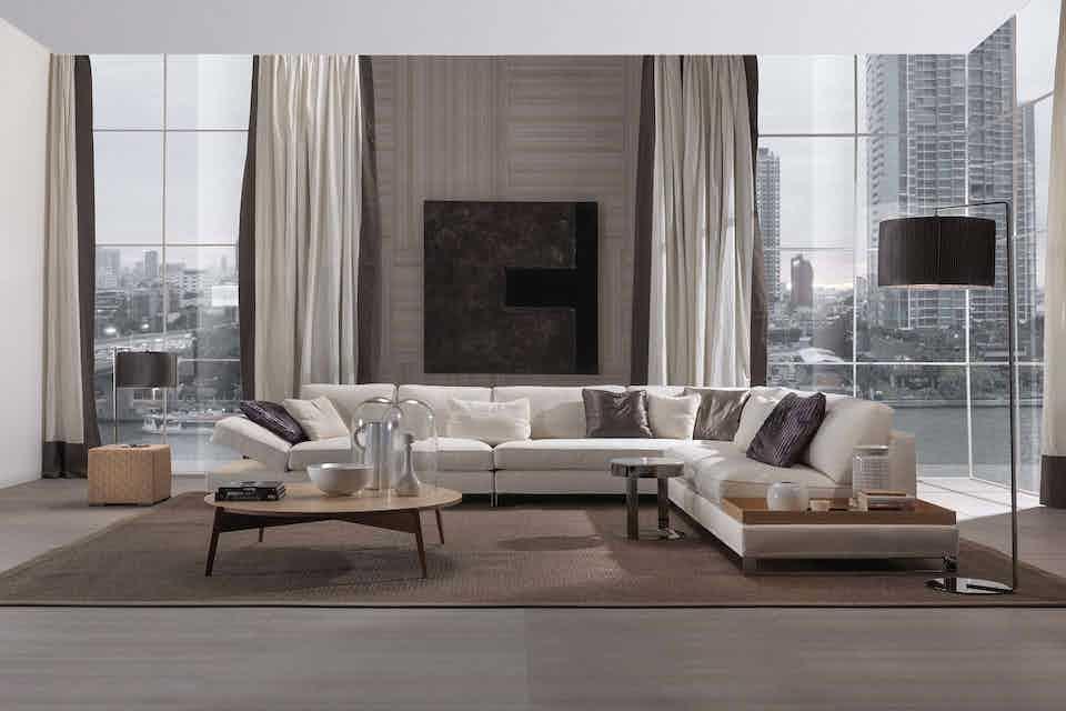 Frigerio davis sofa insitu front haute living