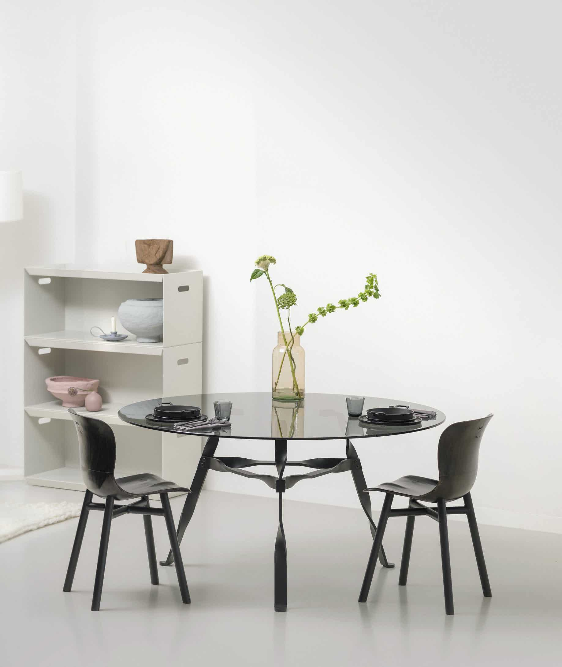 functionals twist glass table at haute living