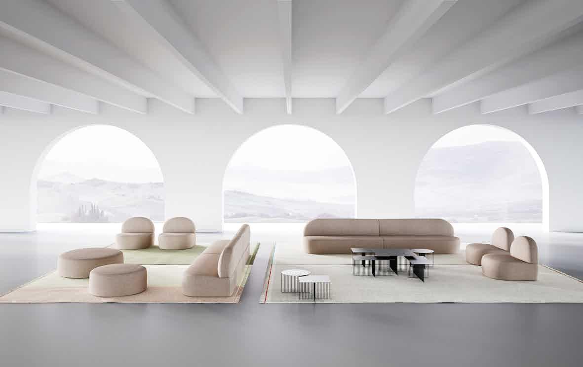 Lacividina guest modular sofa with chairs haute living