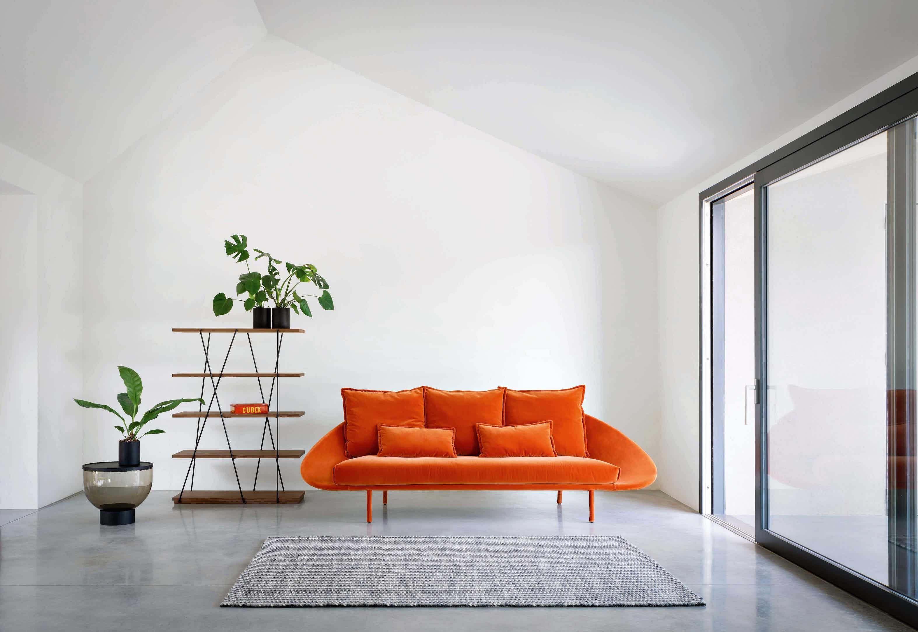 Miniforms lem sofa orange insitu haute living