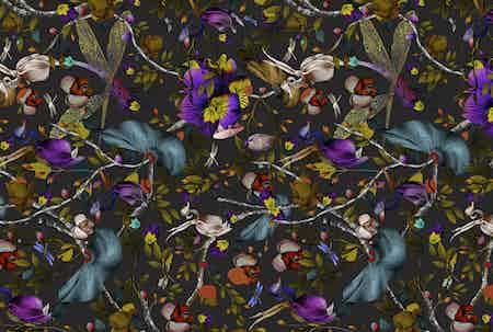 Moooi carpets biophilia dark slate rectangle haute living