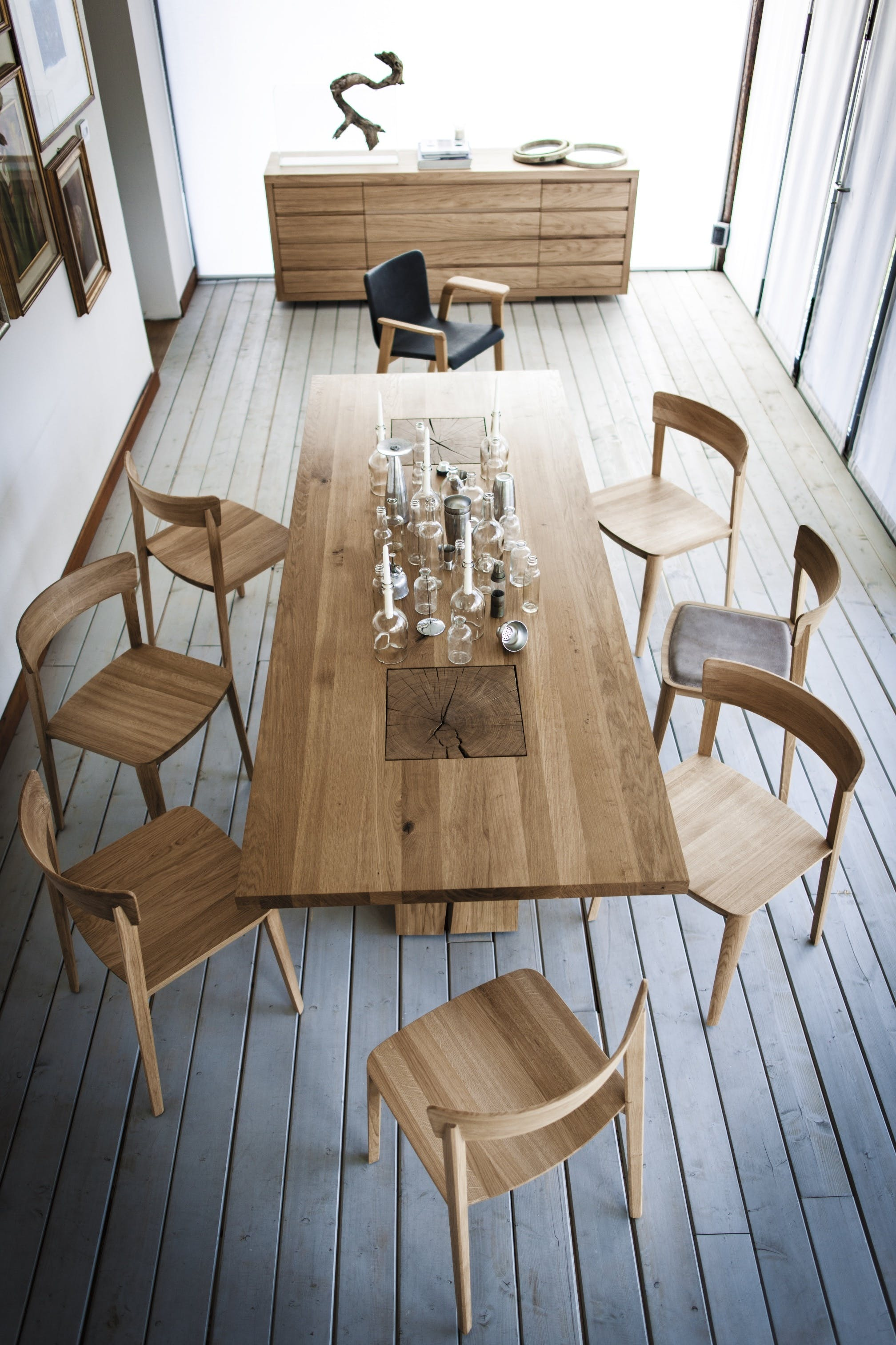 riva 1920 italian wood dining table and chairs at haute living
