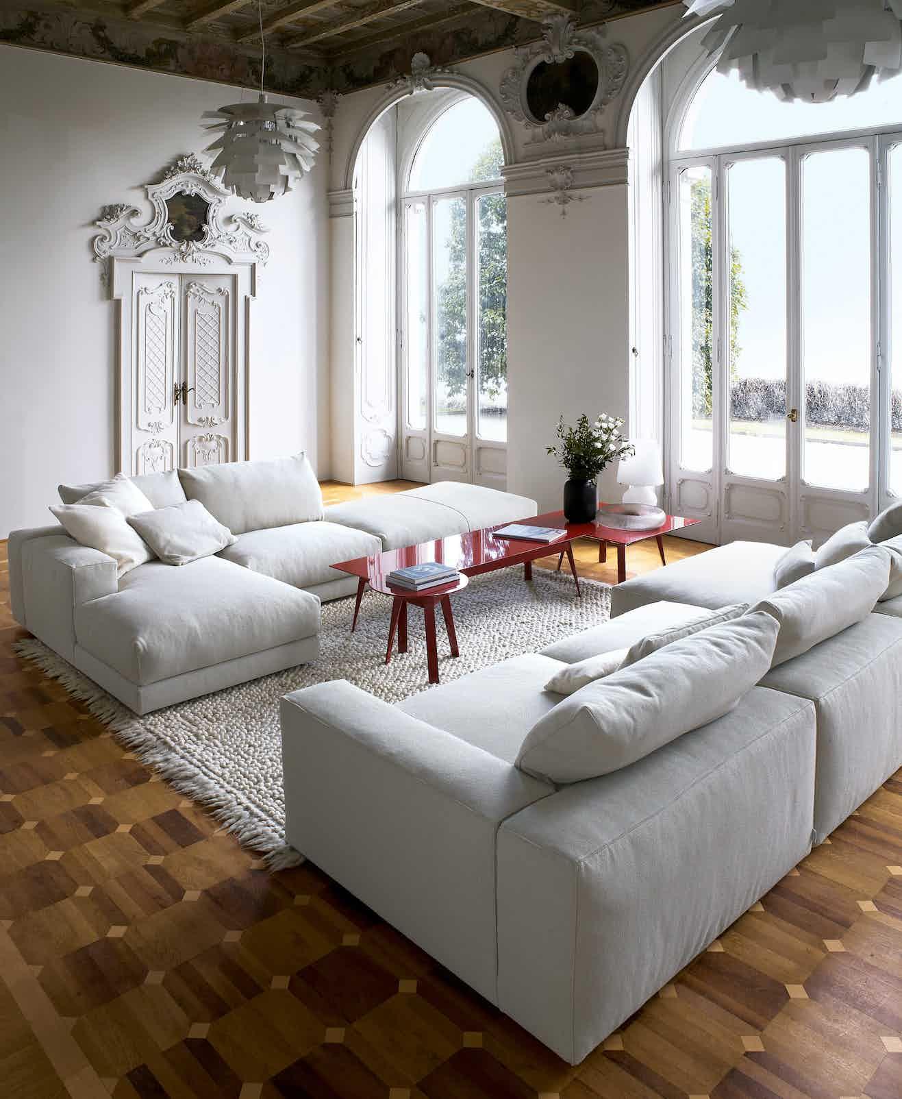 Swan furniture hills sofa grey duo haute living