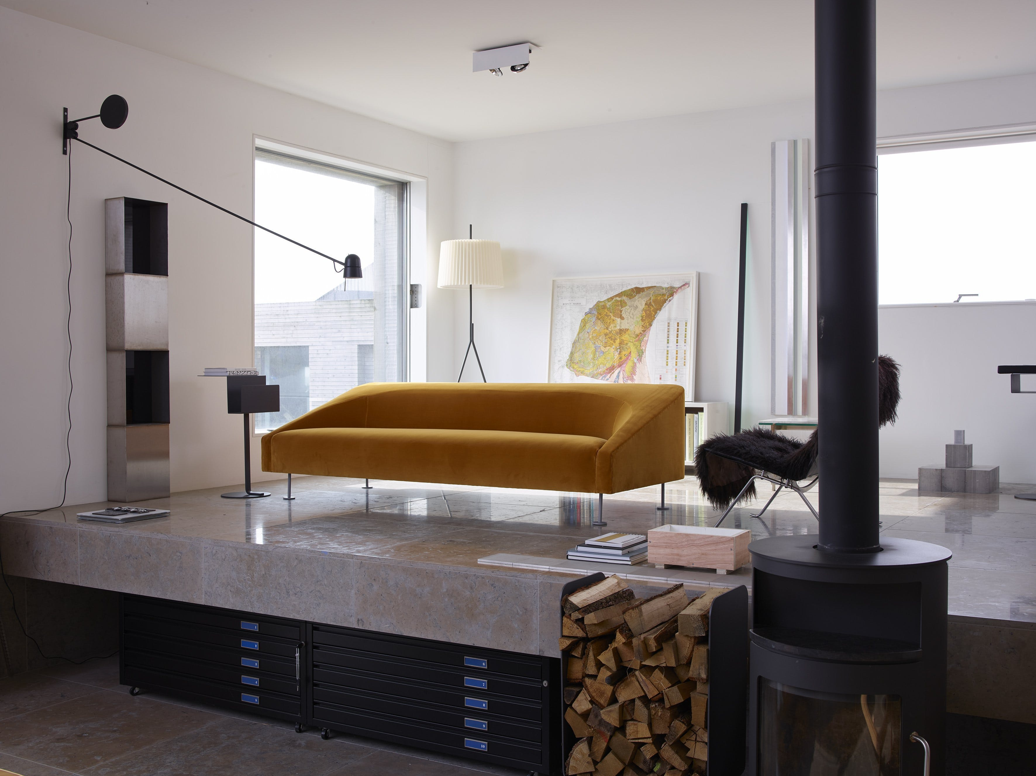 Linear Sofa By Terence Woodgate For Scp In Designers Guild Varese 1