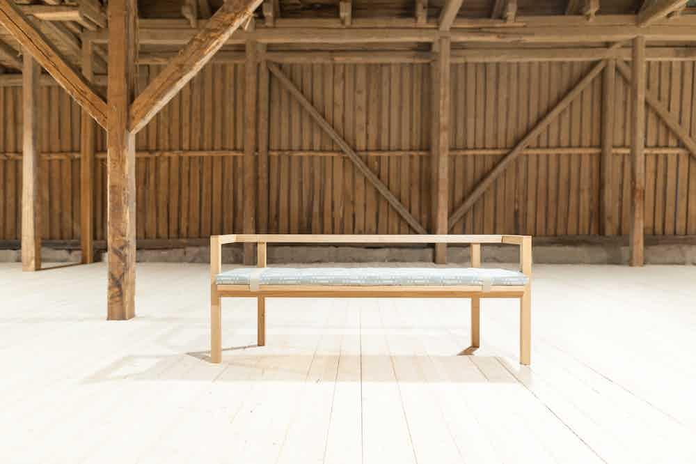 Nikari furniture konstructio bench insitu front haute living