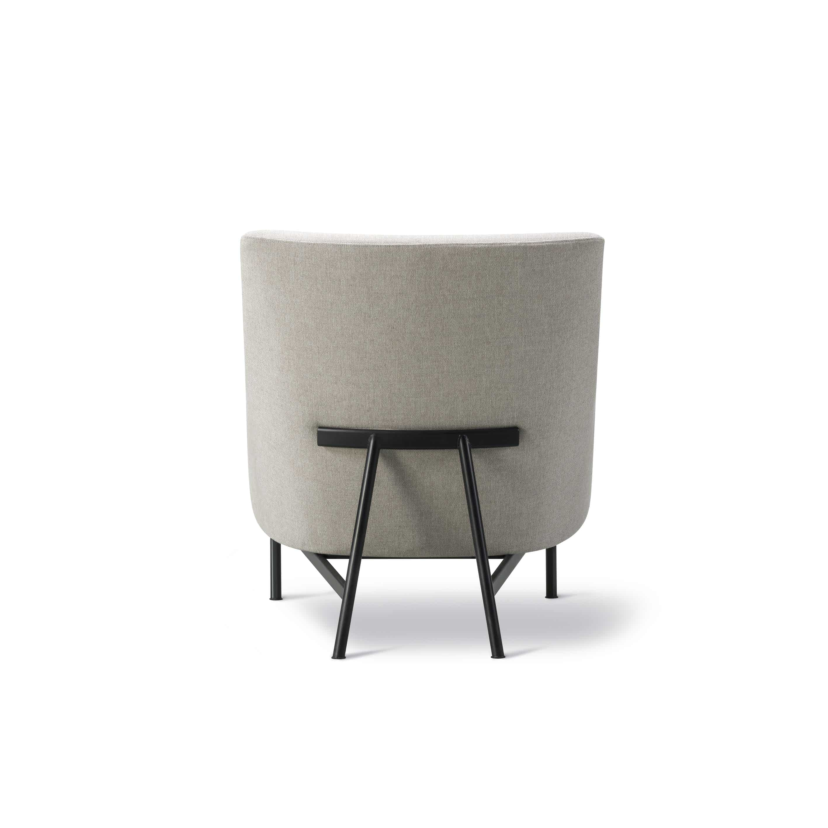 Fredericia a chair metal base back haute living