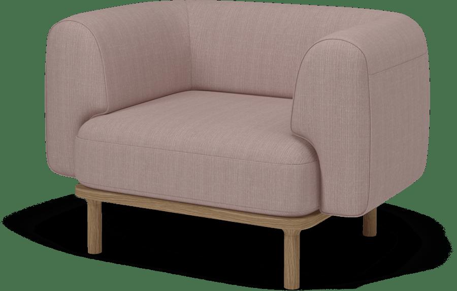 bolia pink abby armchair haute living