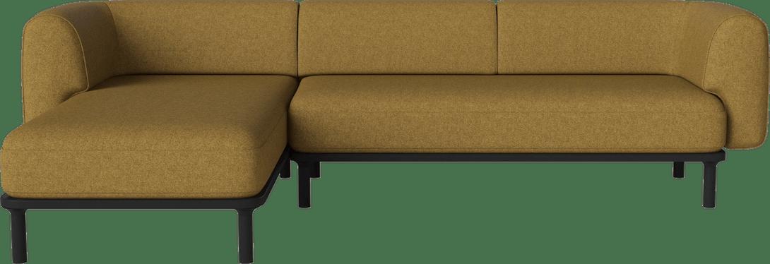 bolia yellow abby sectional sofa haute living