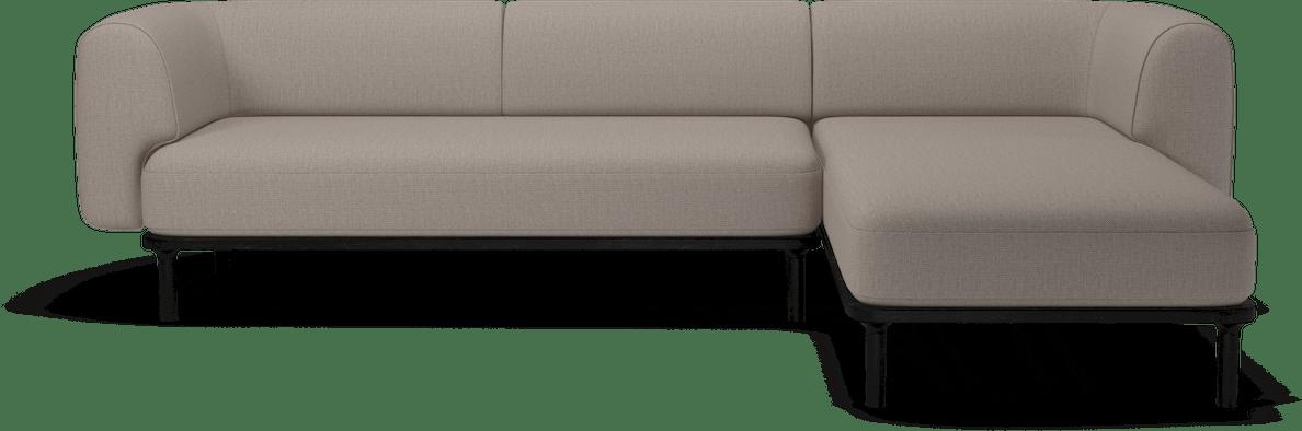 bolia taupe abby sectional sofa haute living