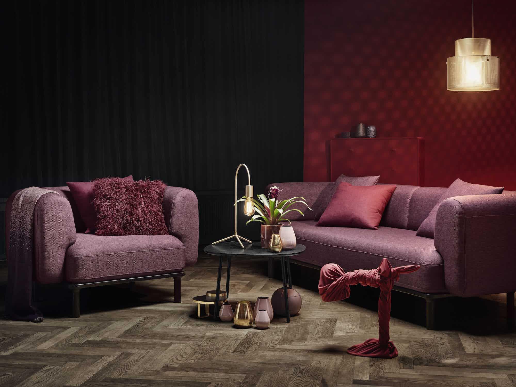 bolia burgundy abby sofa insitu haute living