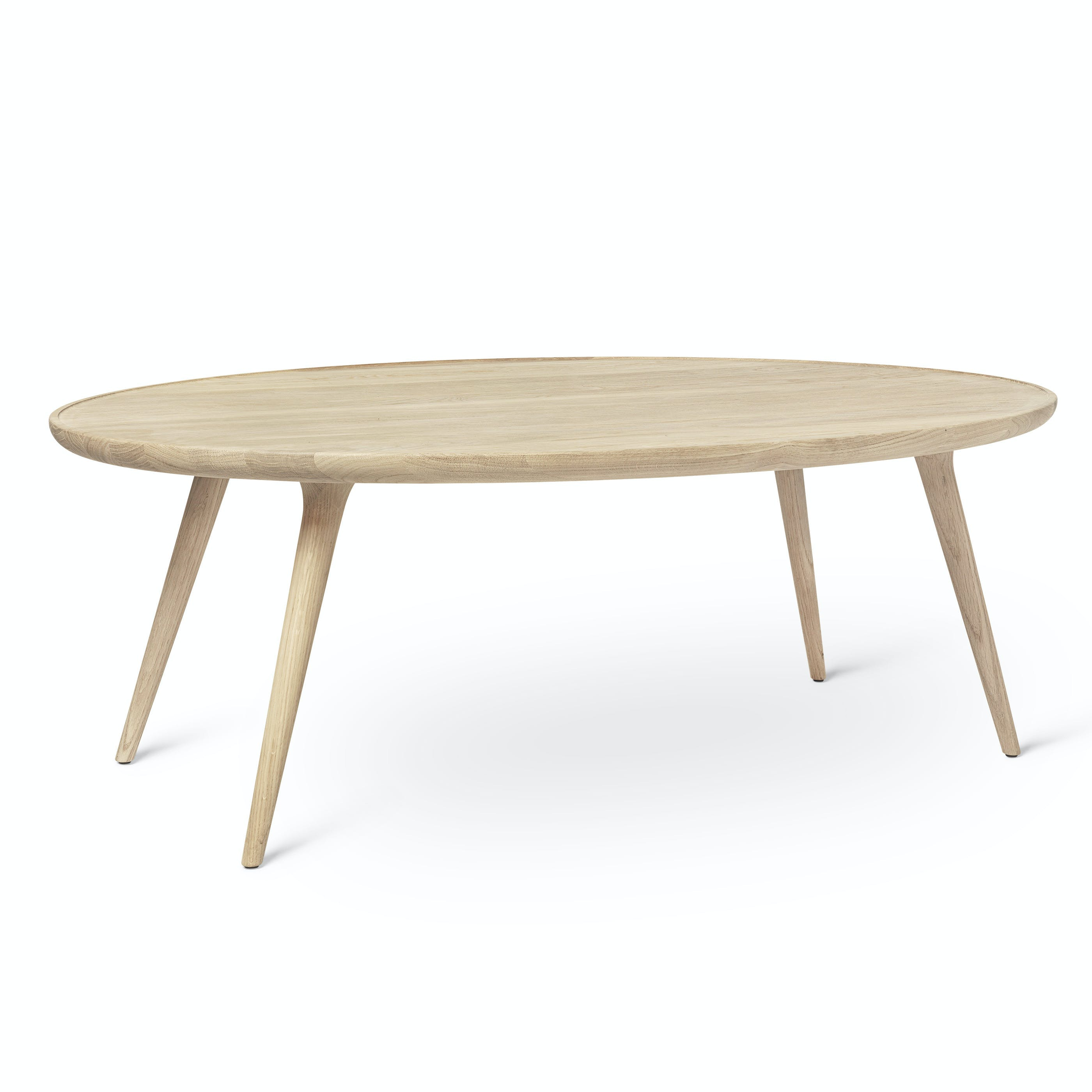 Mater Soaped Oak Oval Lounge Accent Table Haute Living