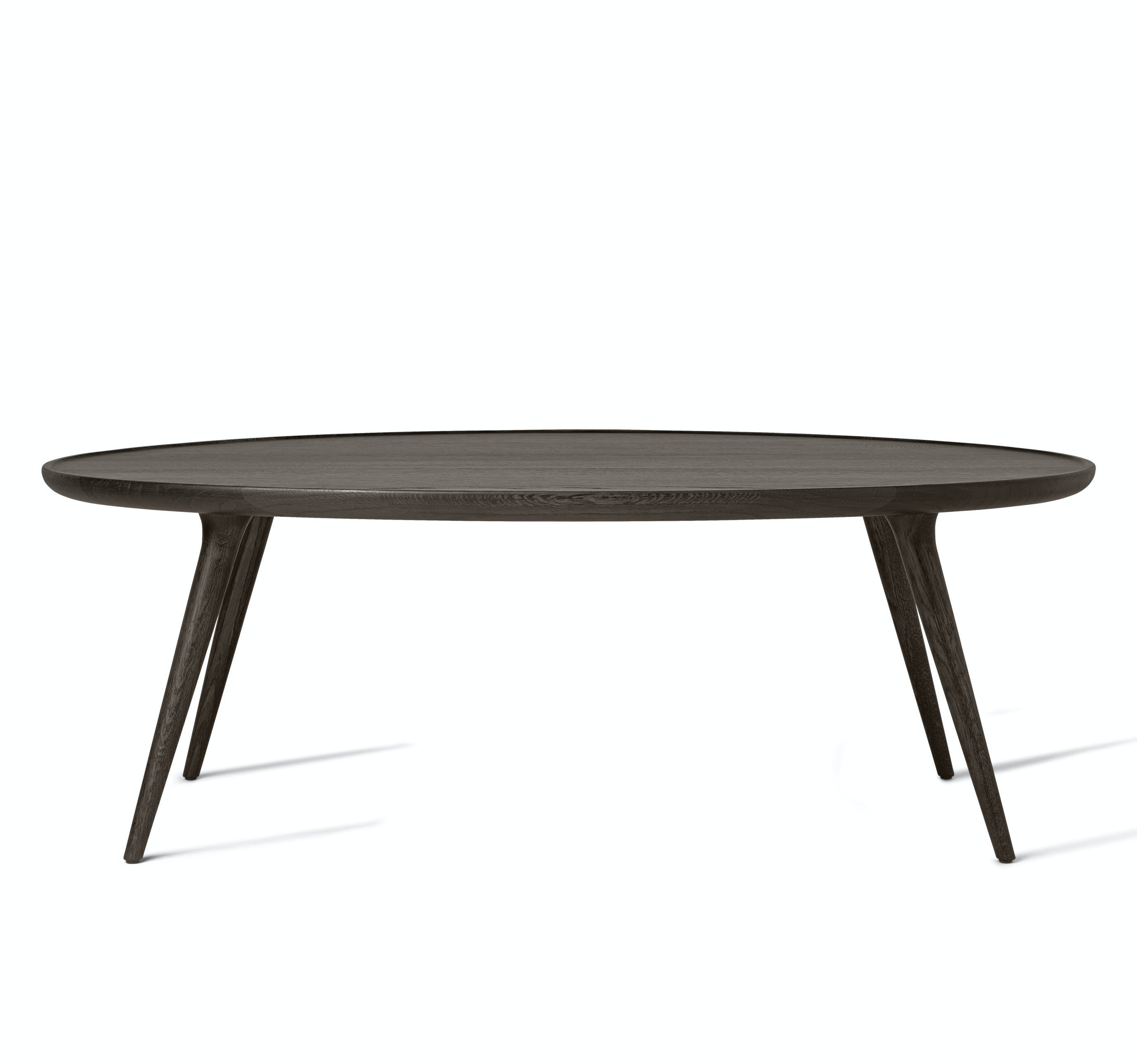 Mater Stained Oak Accent Oval Lounge Table Haute Living