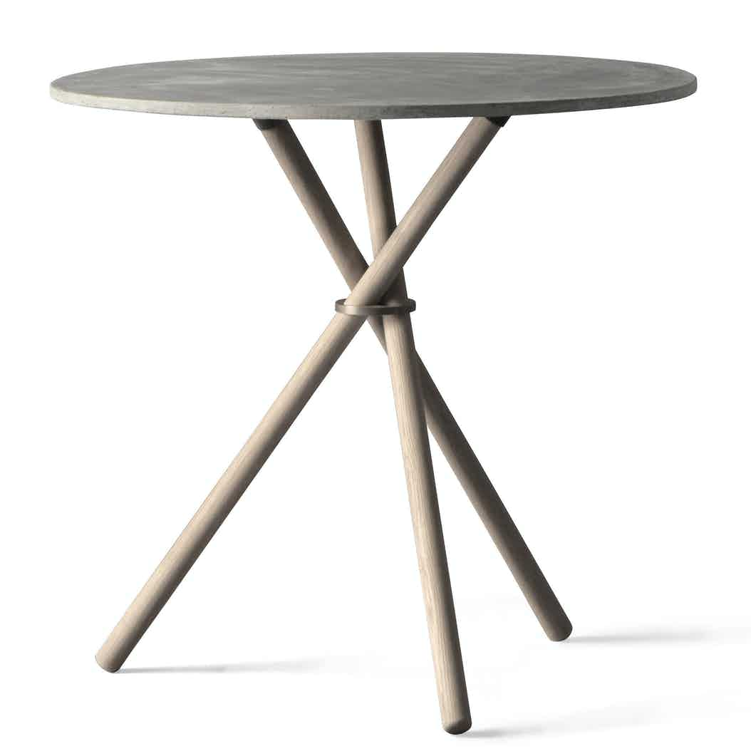 Eberhart furniture aldric table grey haute living