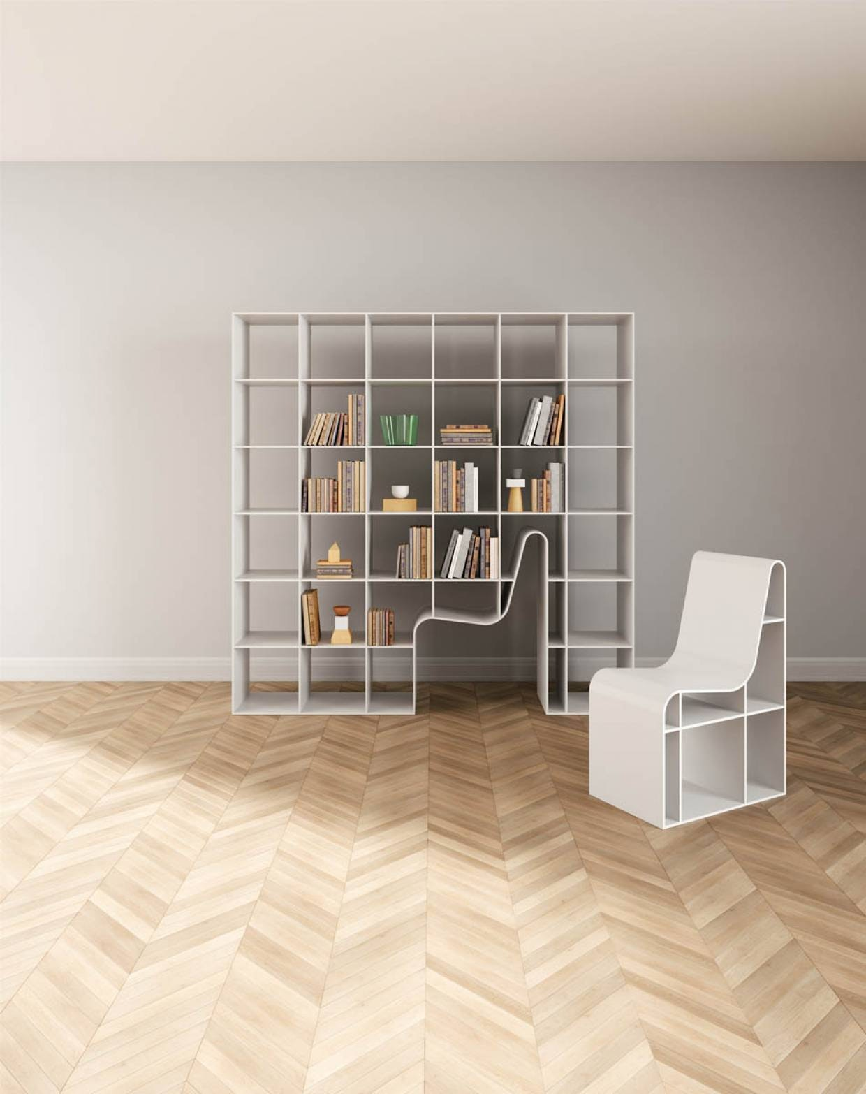 Bookshelf Bookchair