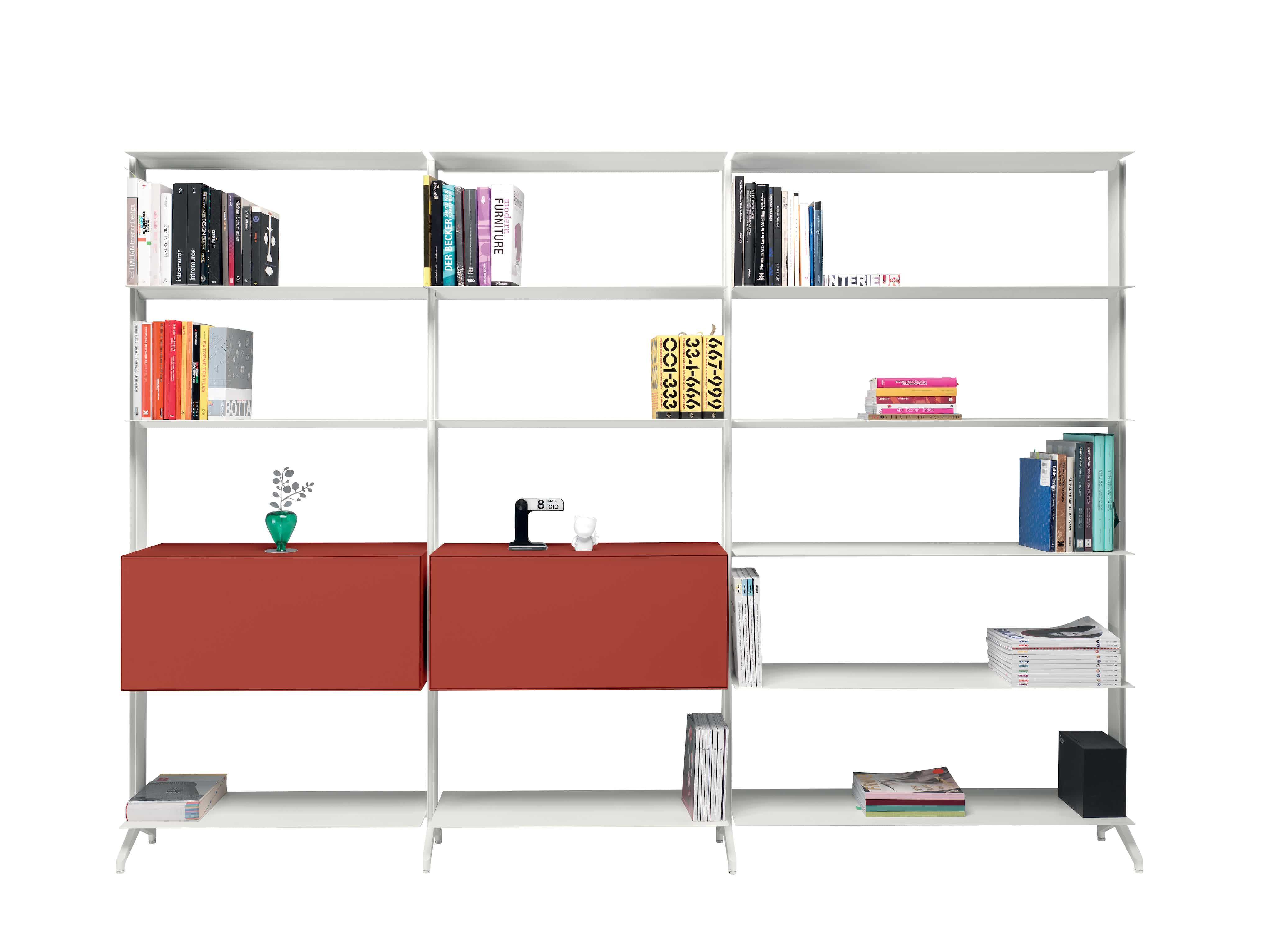 Alias-furniture-aline-shelving-system-red-drawers-haute-living