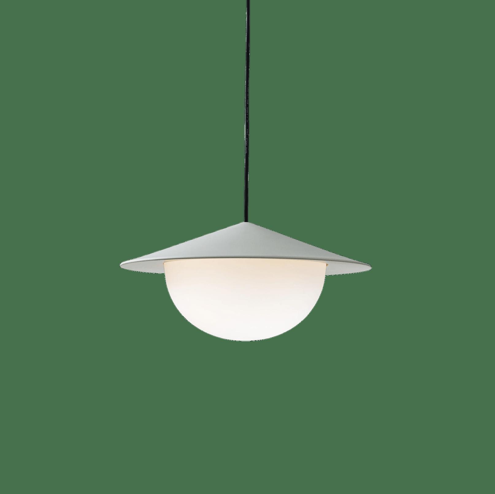 Ago lighting alley pendant large grey lit haute living
