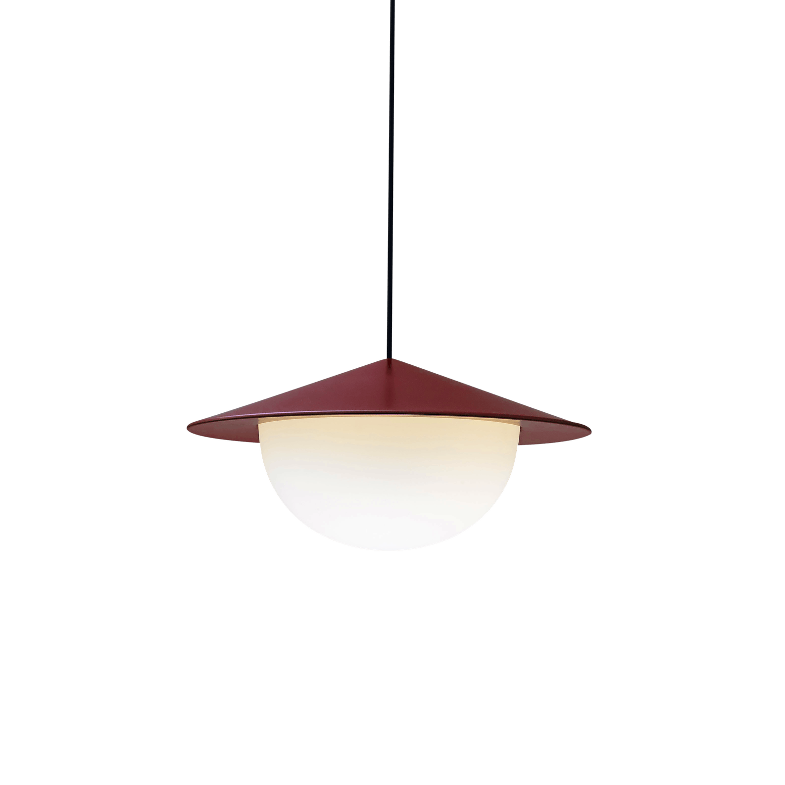 Ago lighting alley pendant red below haute living