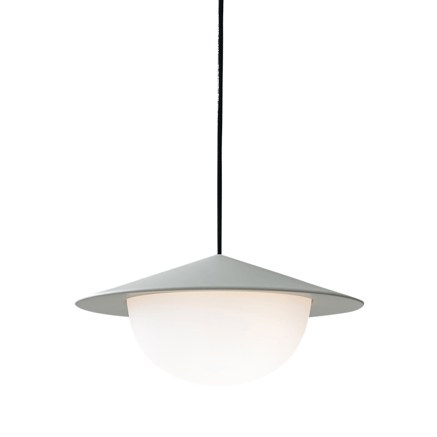Ago lighting alley pendant small grey bottom haute living