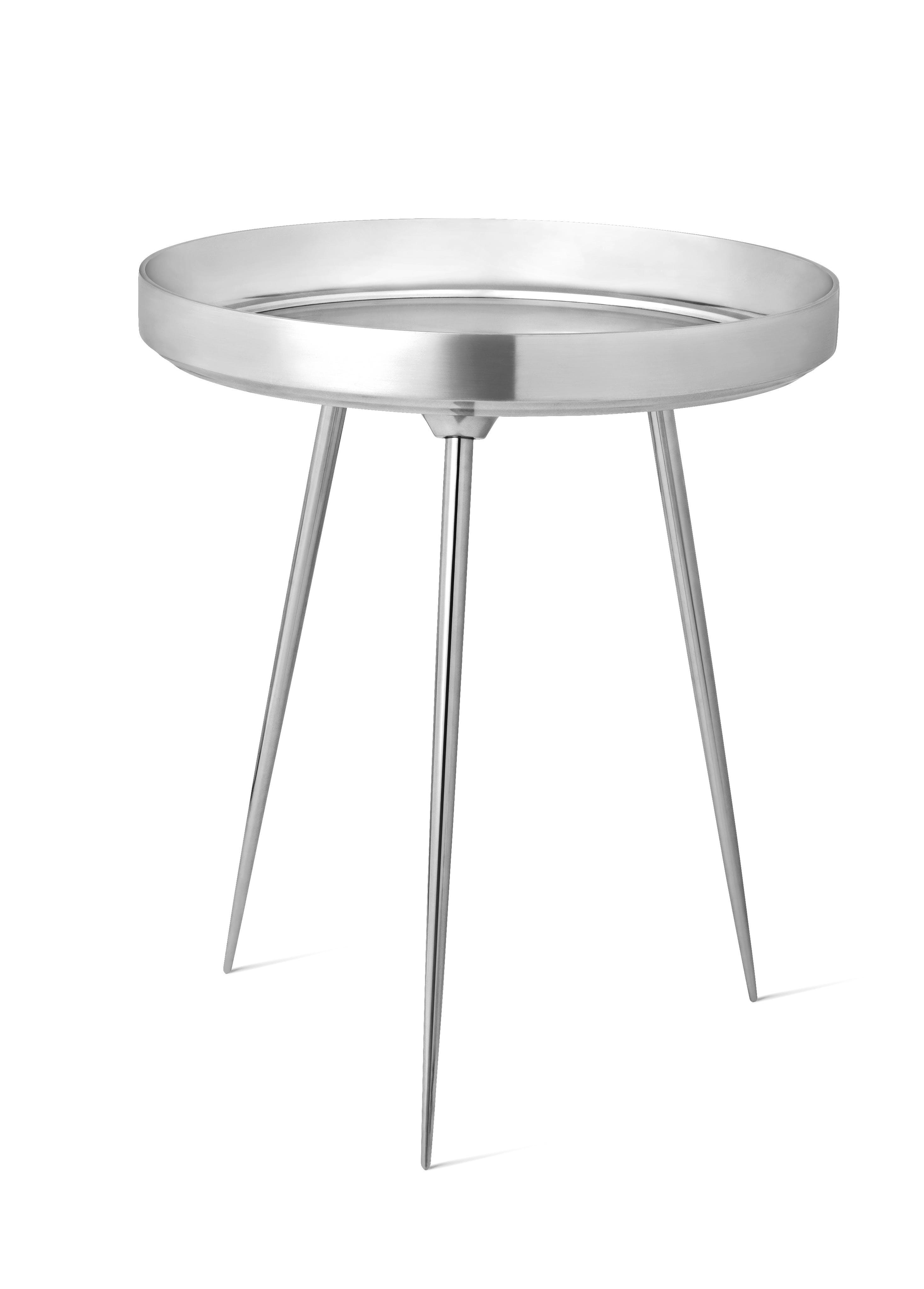 Mater Polished Aluminum Bowl Table Haute Living