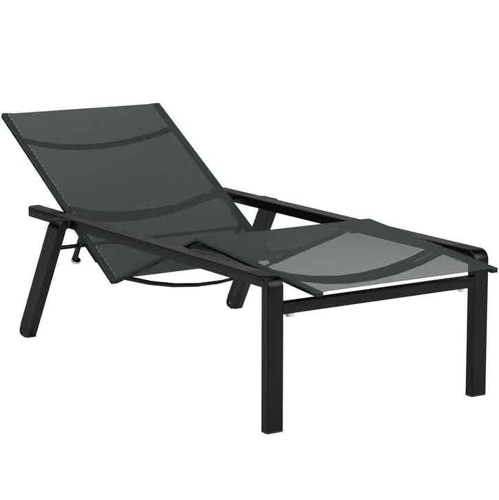Royal Botania Alura Lounger Black Haute Living