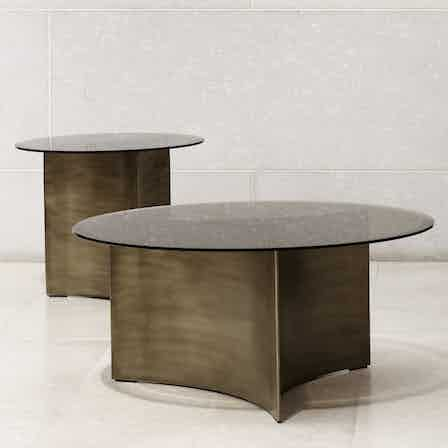 Wendelbo arc table trio front haute living