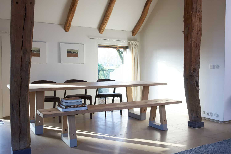 Arco furniture base table insitu haute living
