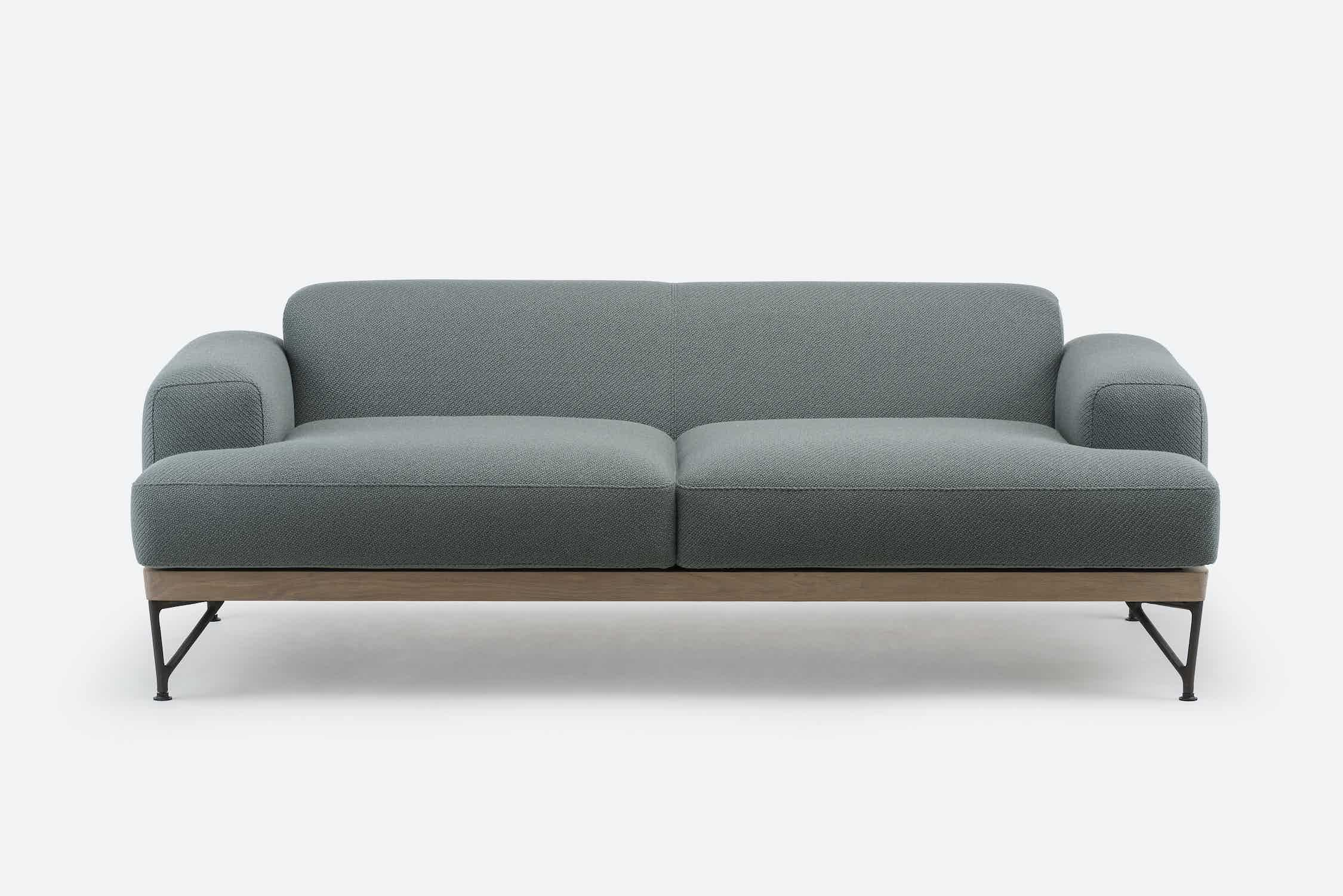 386 M Armstrong Sofa By Matthew Hilton In White Oiled Oak And Coda 2 962 Front