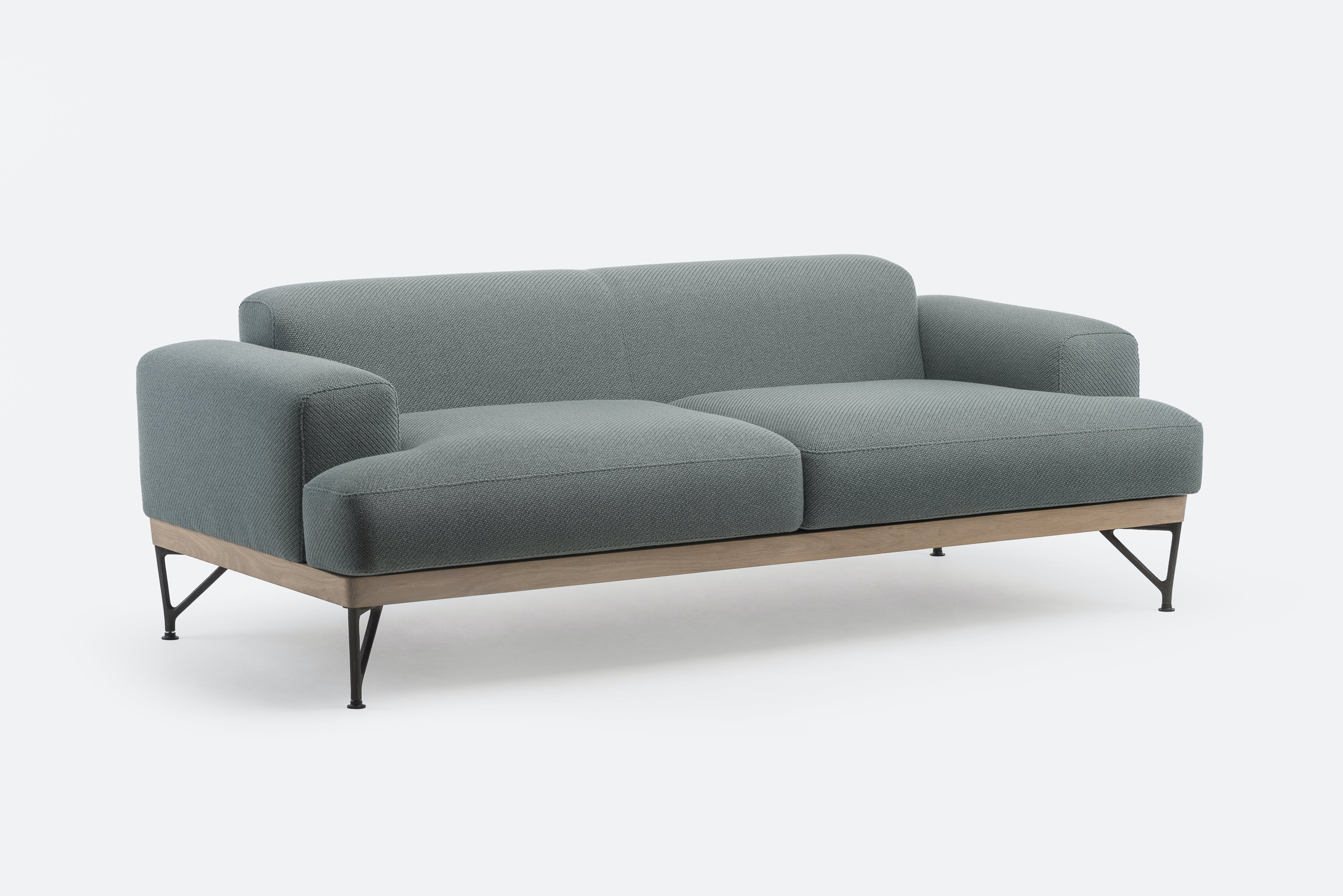 386 M Armstrong Sofa By Matthew Hilton In White Oiled Oak And Coda 2 962