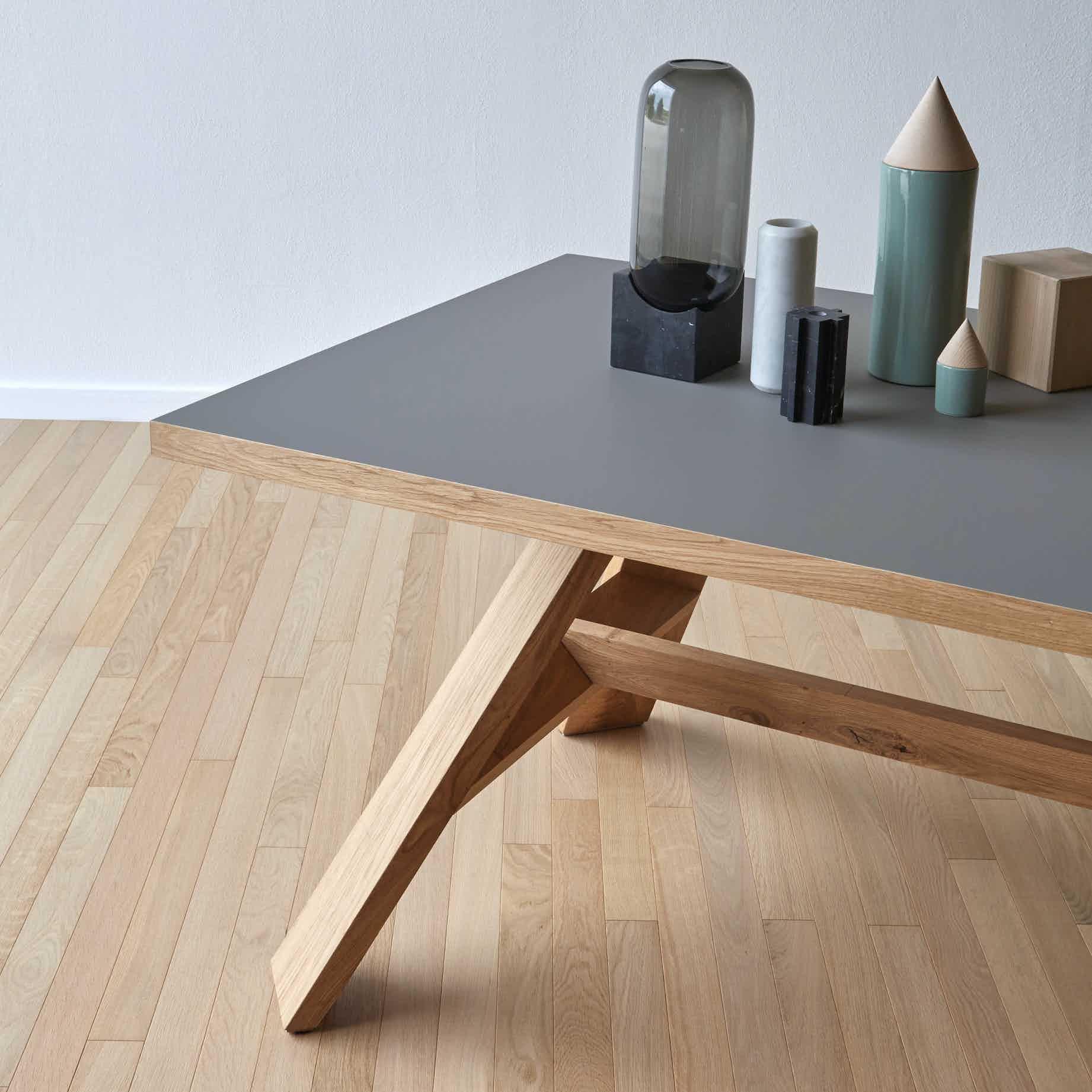 Miniforms Artigiano Table Grey Half Haute Living