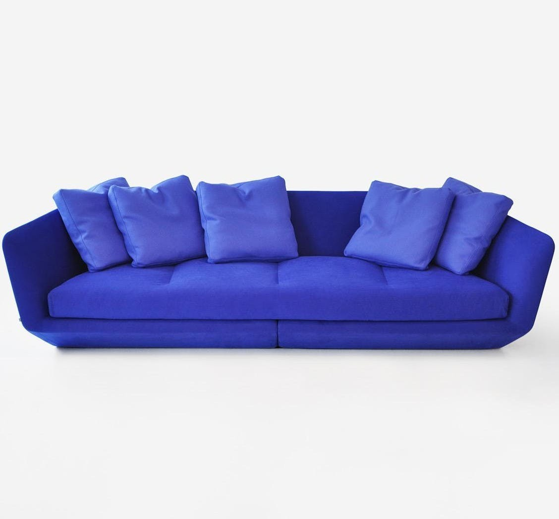 Aura Blue Sofa Front
