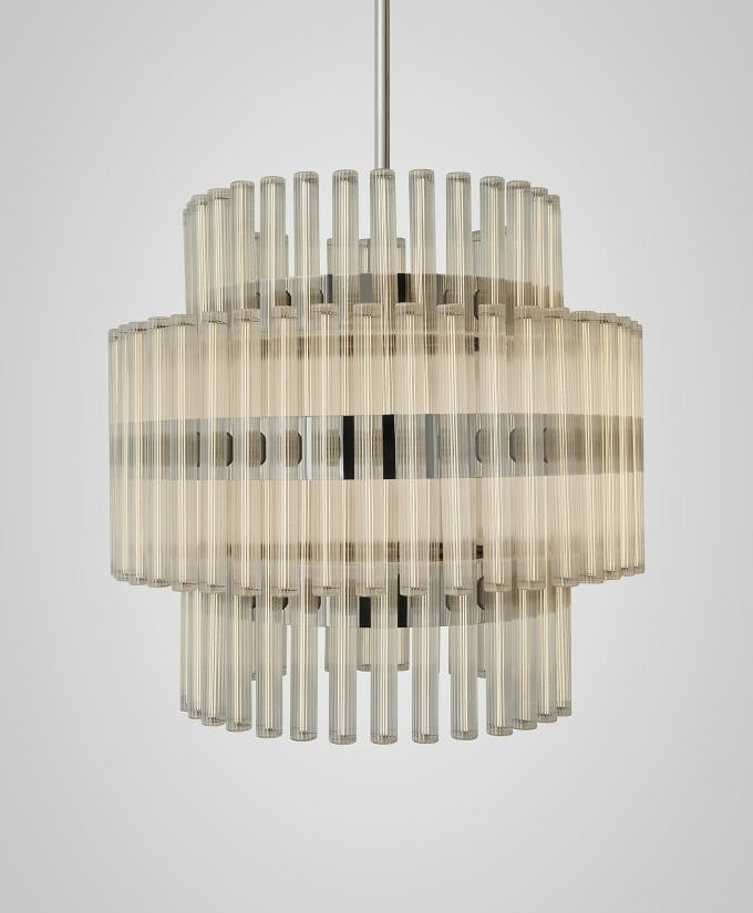 lee broom aurora medium chandelier haute living