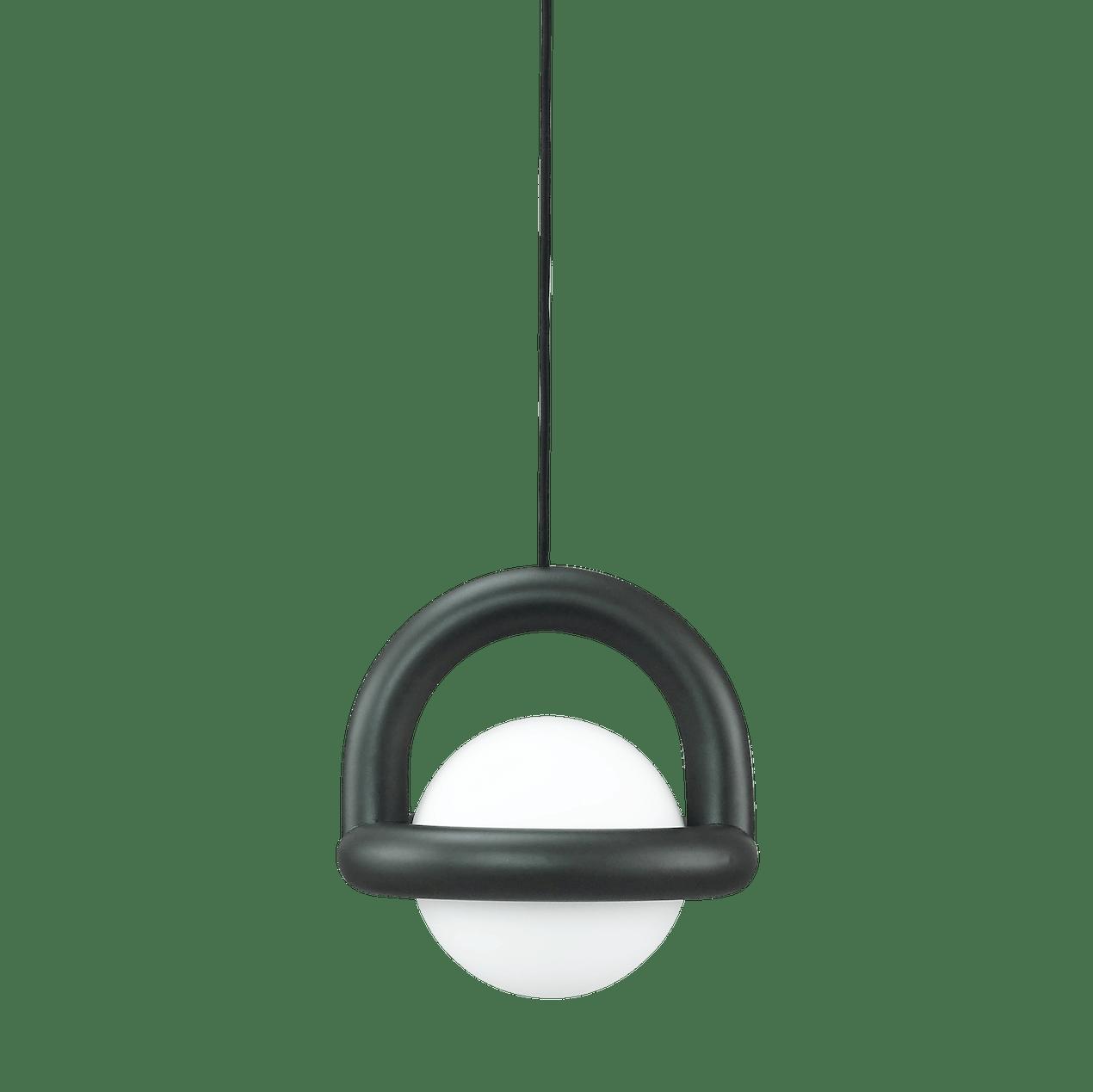 Ago lighting balloon pendant charcoal haute living