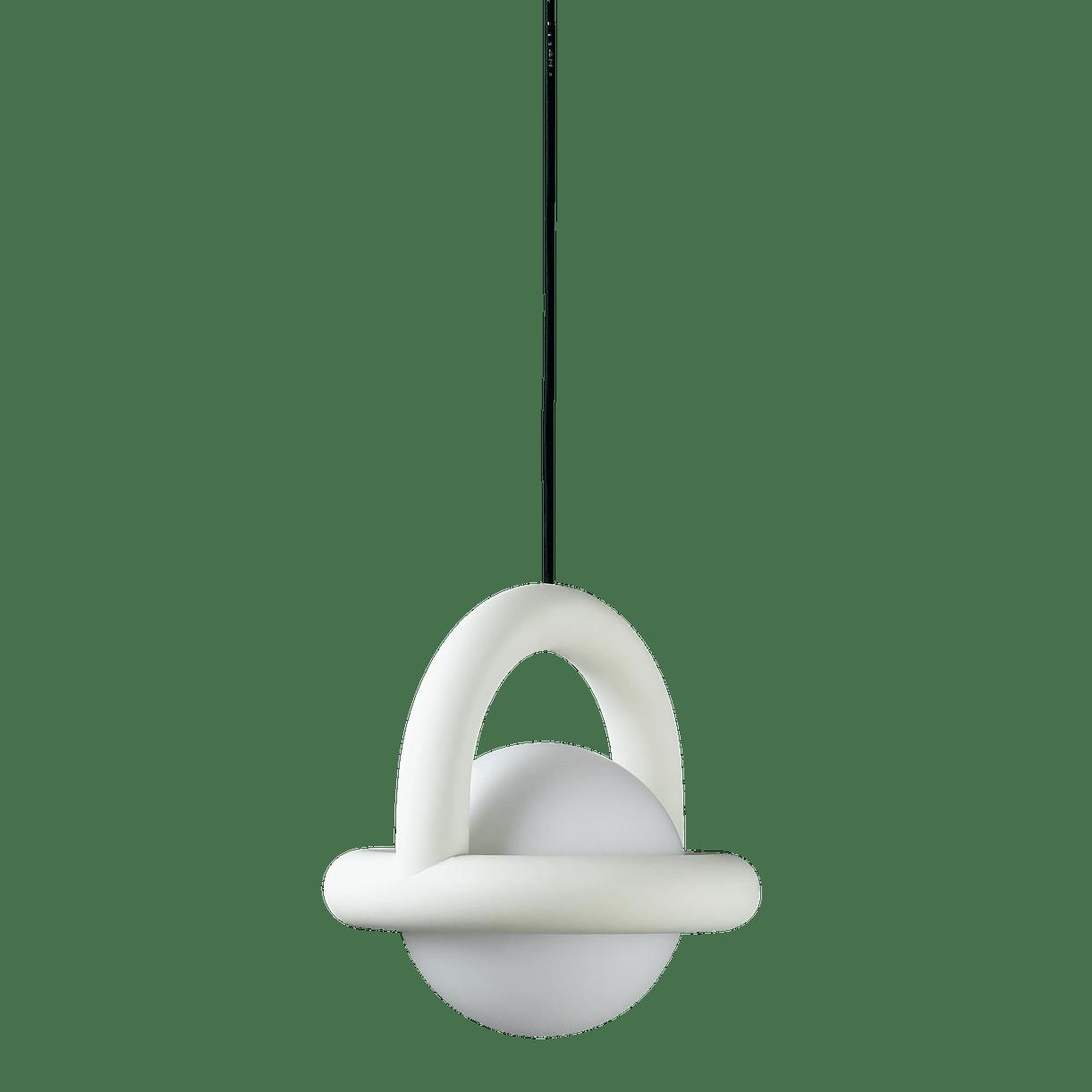 Ago lighting balloon pendant white haute living