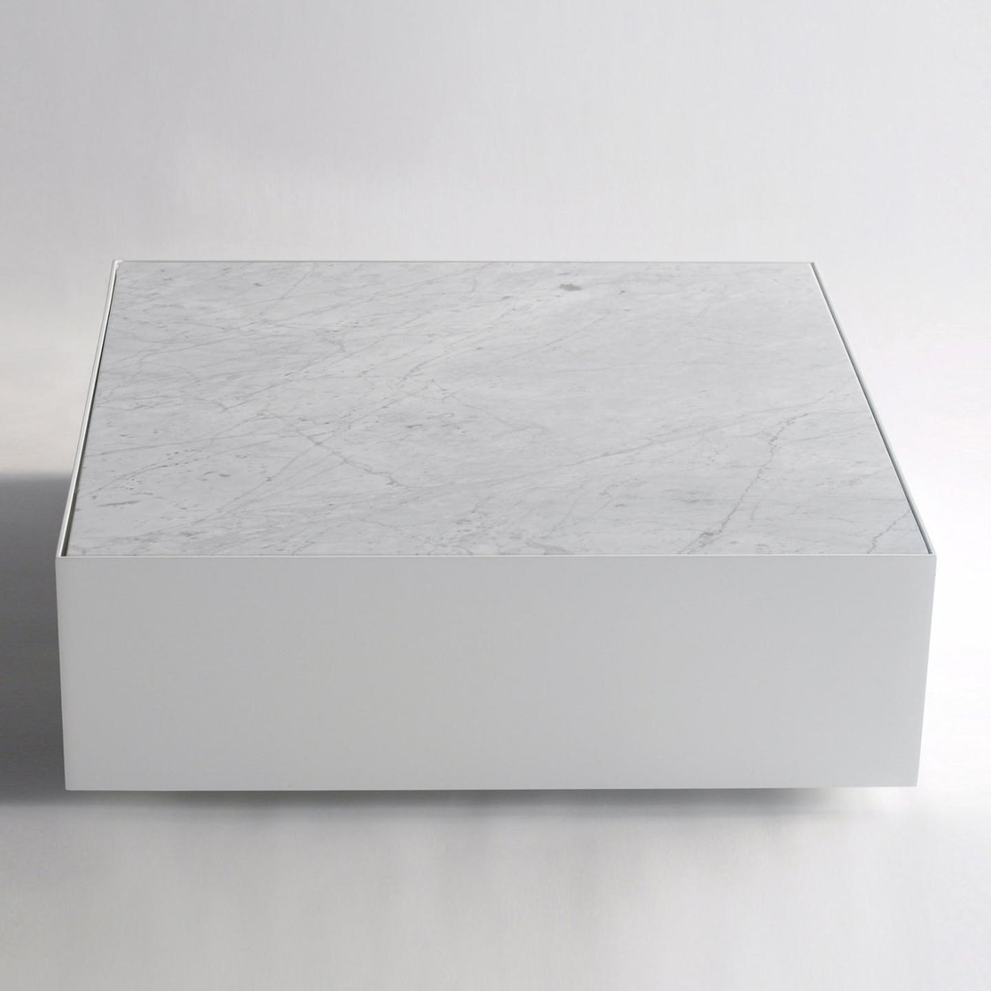 Phase Design Ballot Box Table Marble Front Haute Living