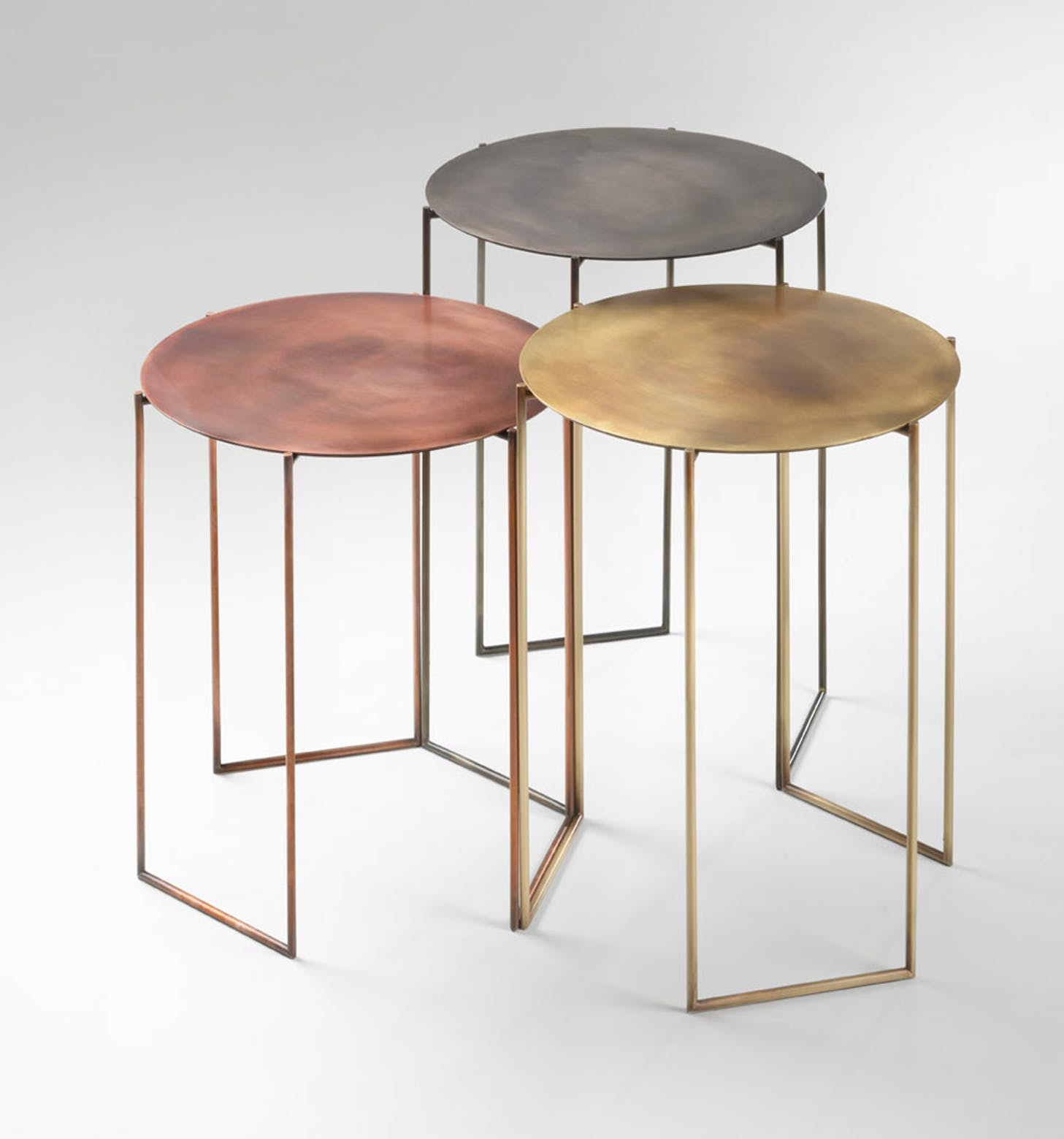 De Castelli Band Tables Front Haute Living