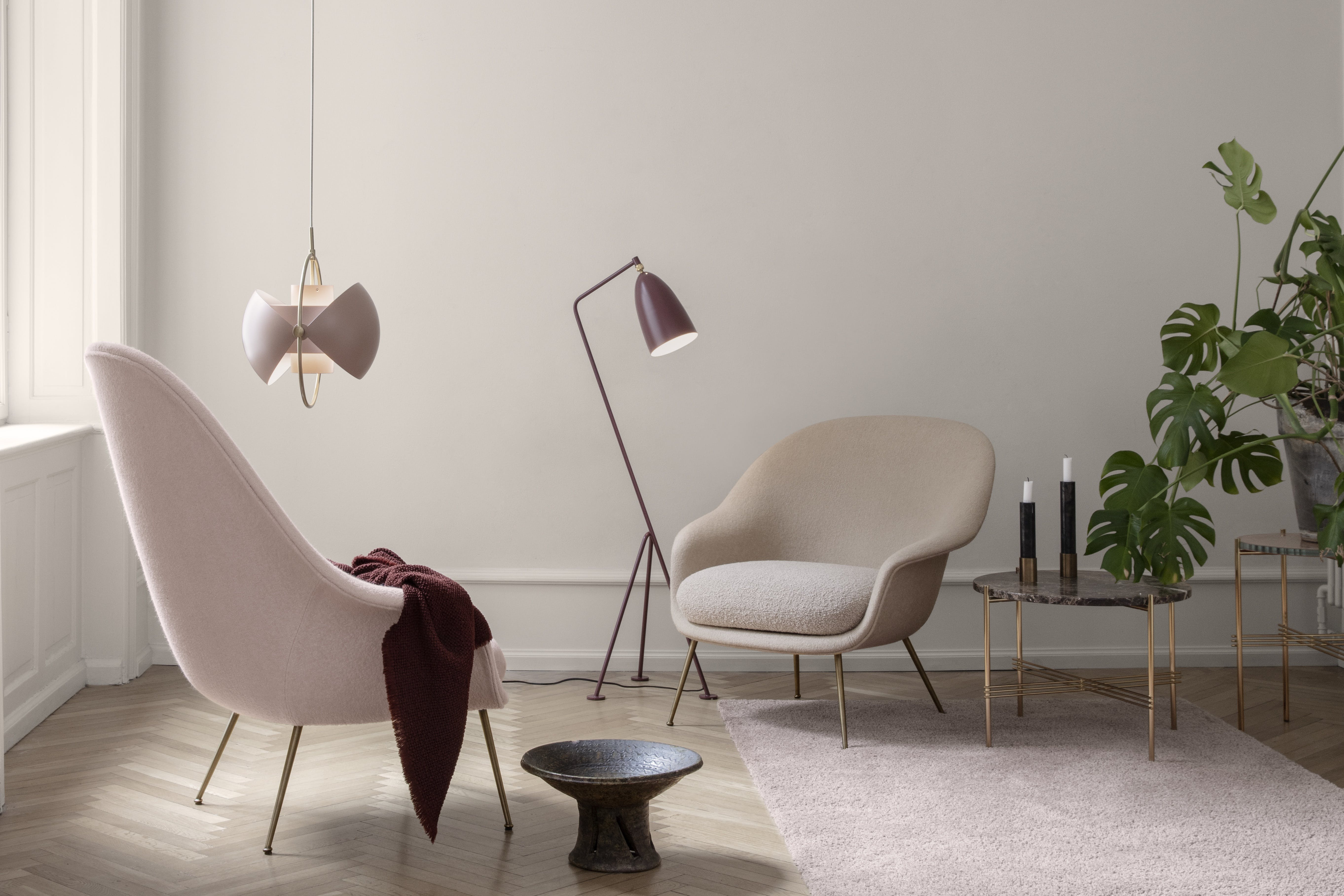Gubi Bat Low Insitu Pink Haute Living