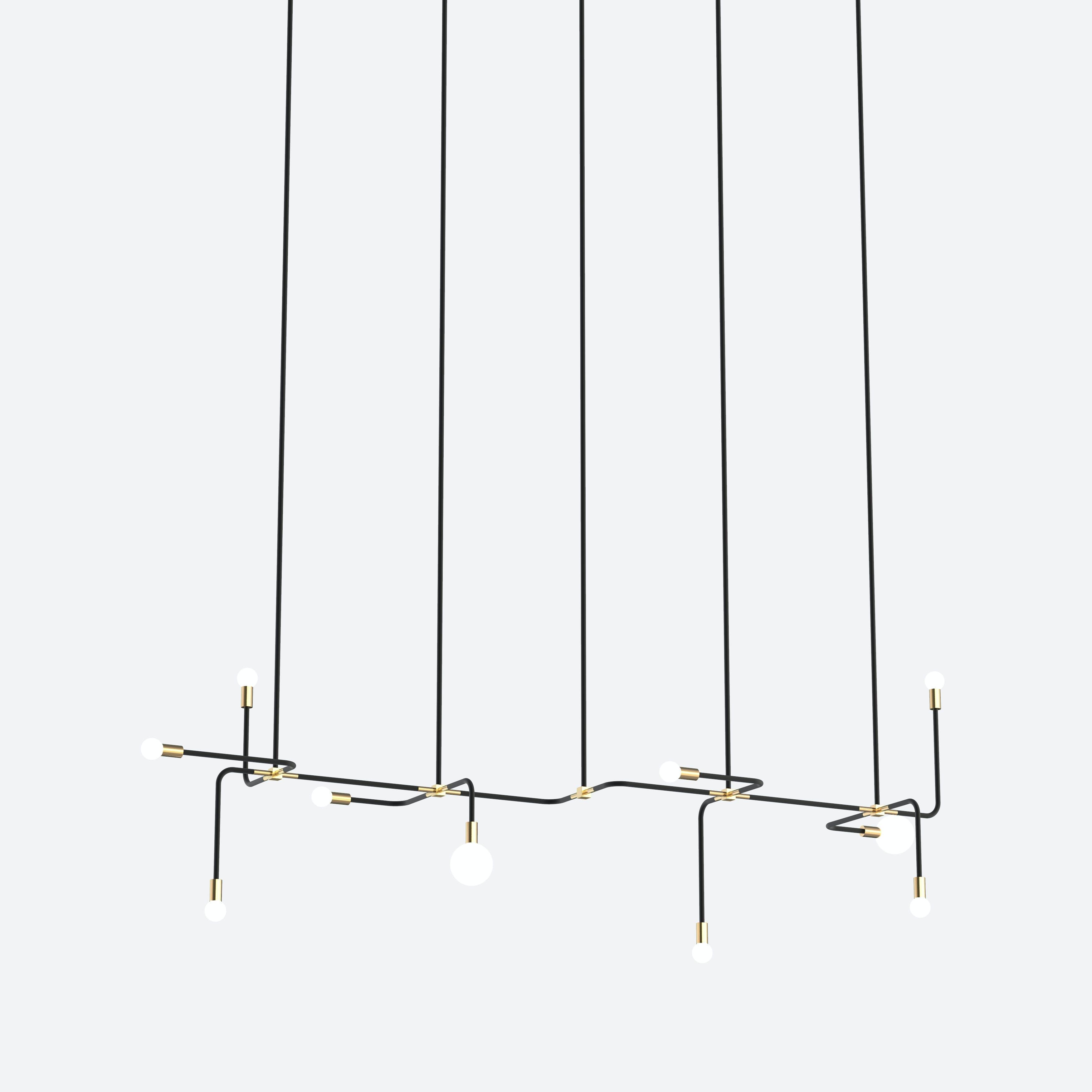 lambert & fils beaubien 06 hanging chandelier light haute living