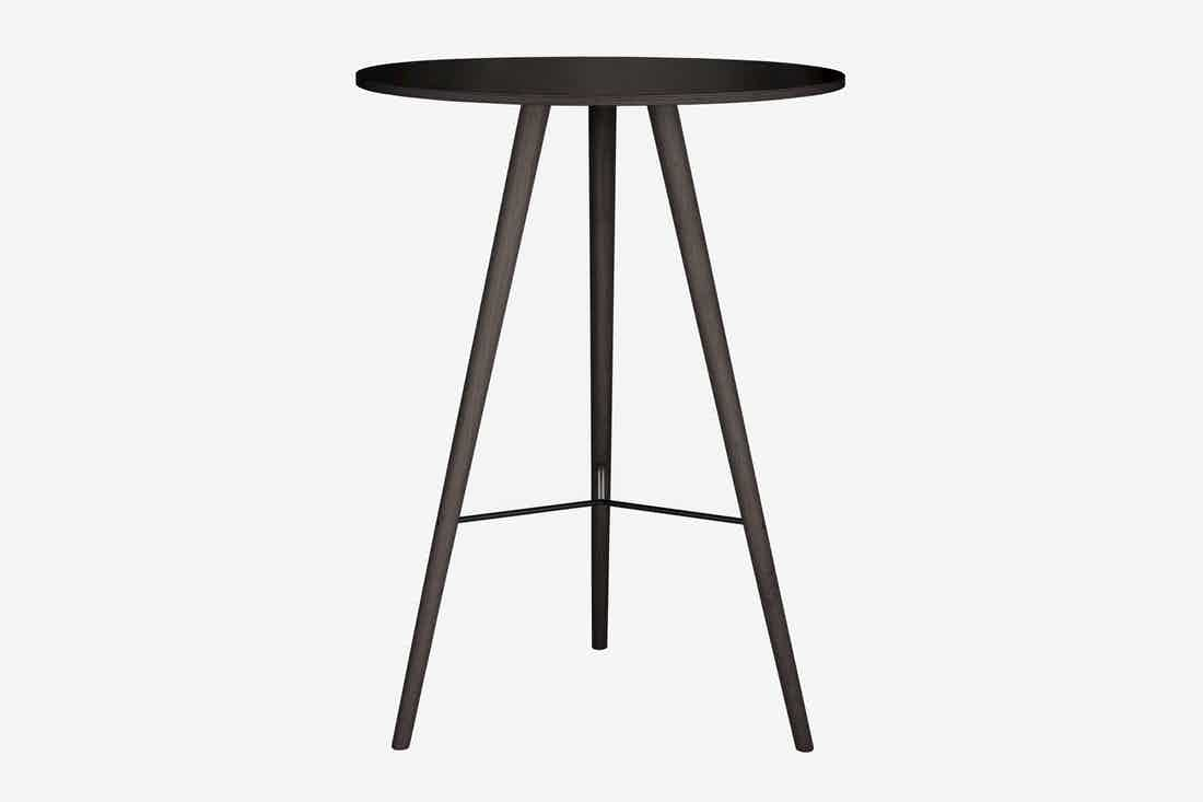 Bolia beaver bar table black stained haute living