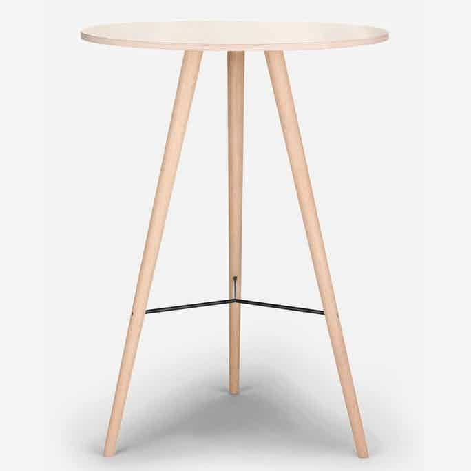 Bolia beaver bar table white oiled haute living