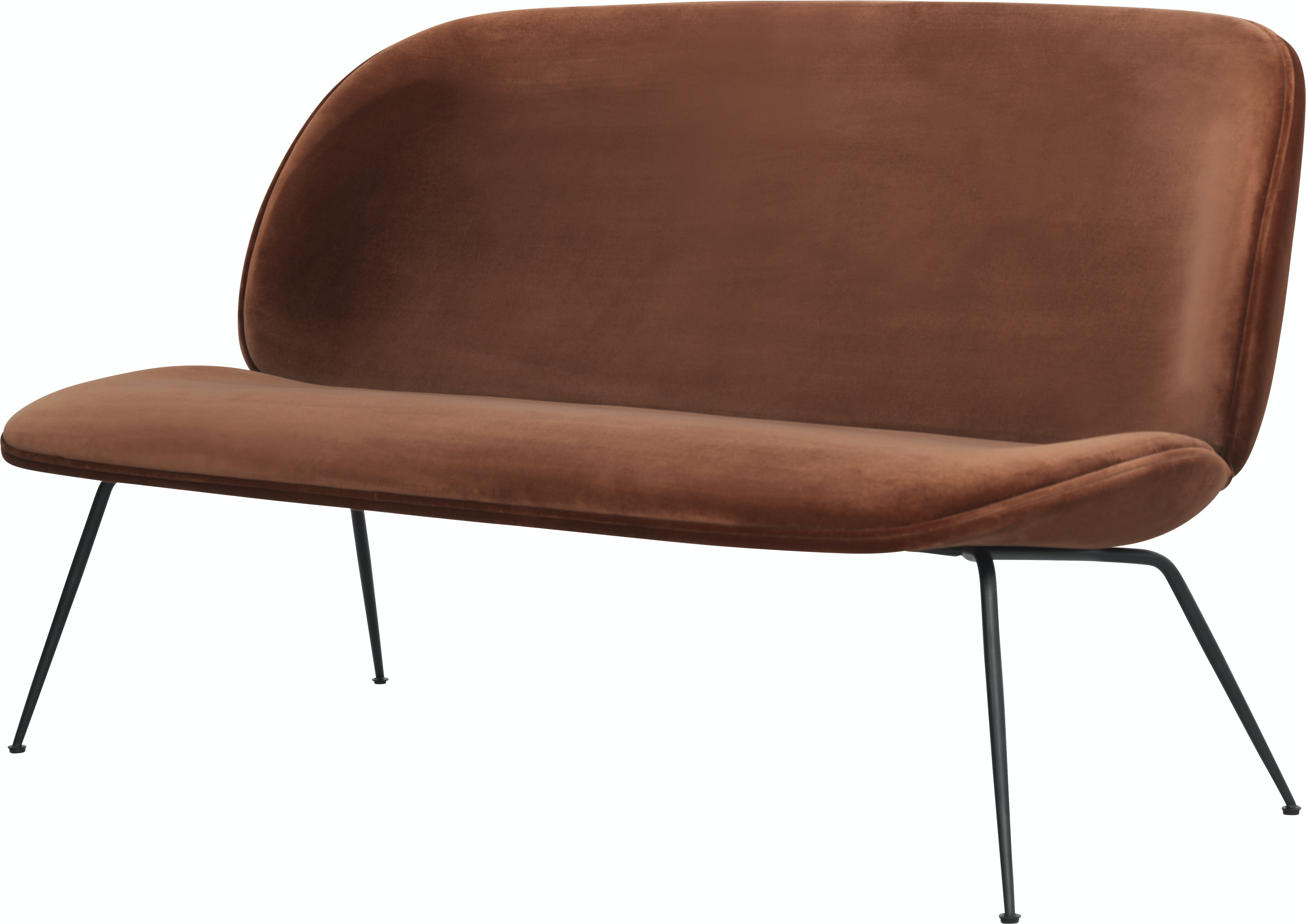 Beetle Sofa 140 Brass Velluto Cotone 641 Piping Same Front