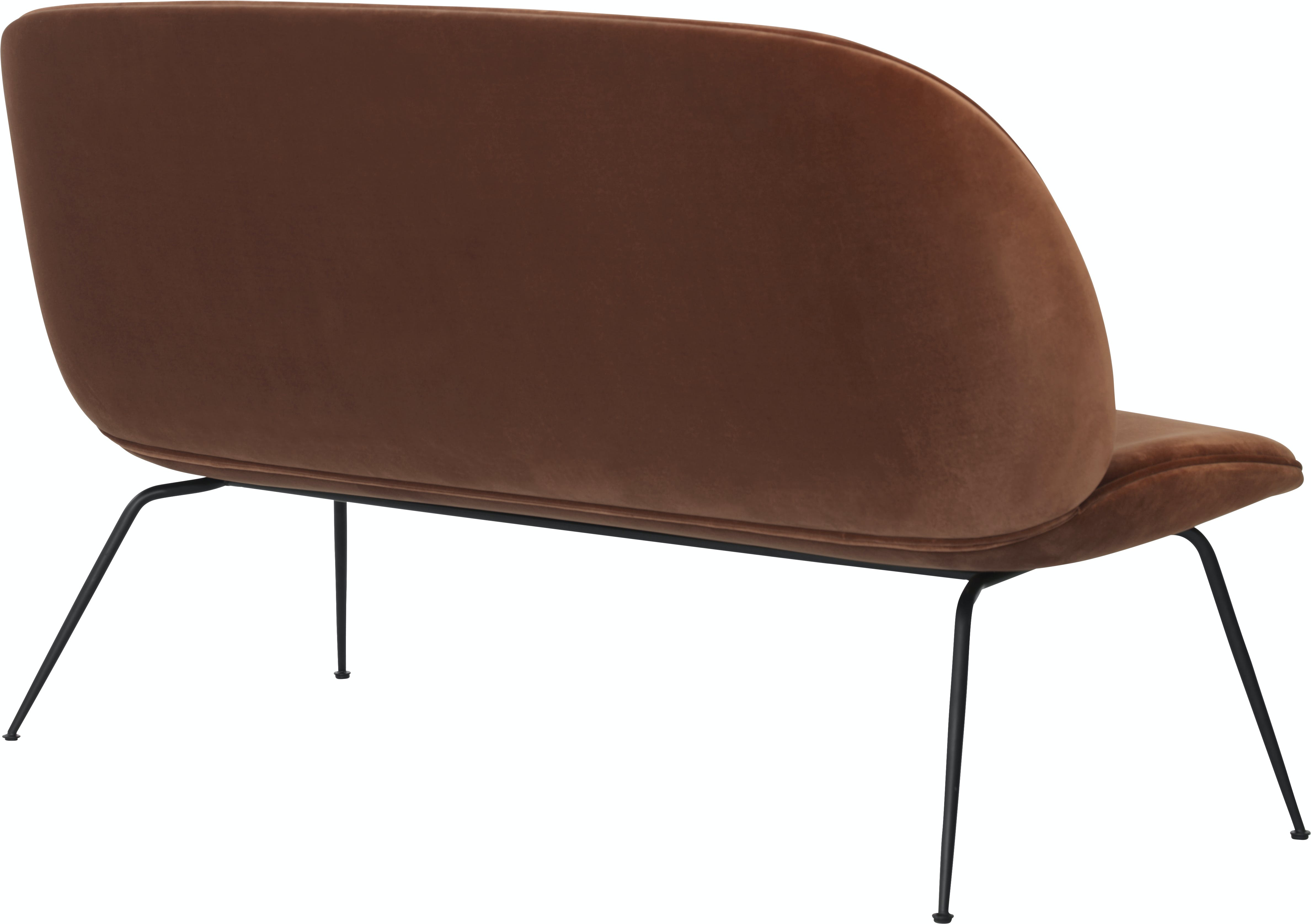 Beetle Sofa 140 Brass Velluto Cotone 641 Piping Same Side